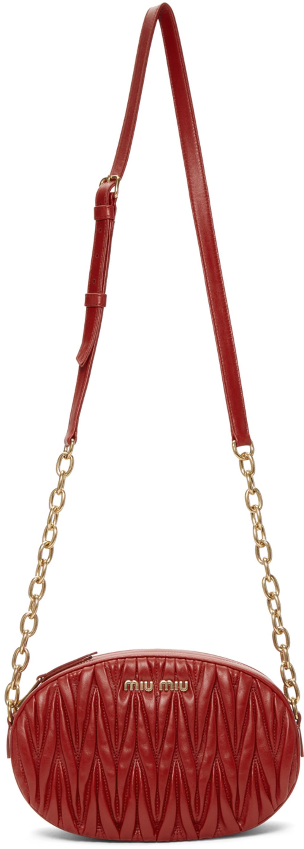 quality design e6094 2d162 Red Mattelassé Bandoleer Bag