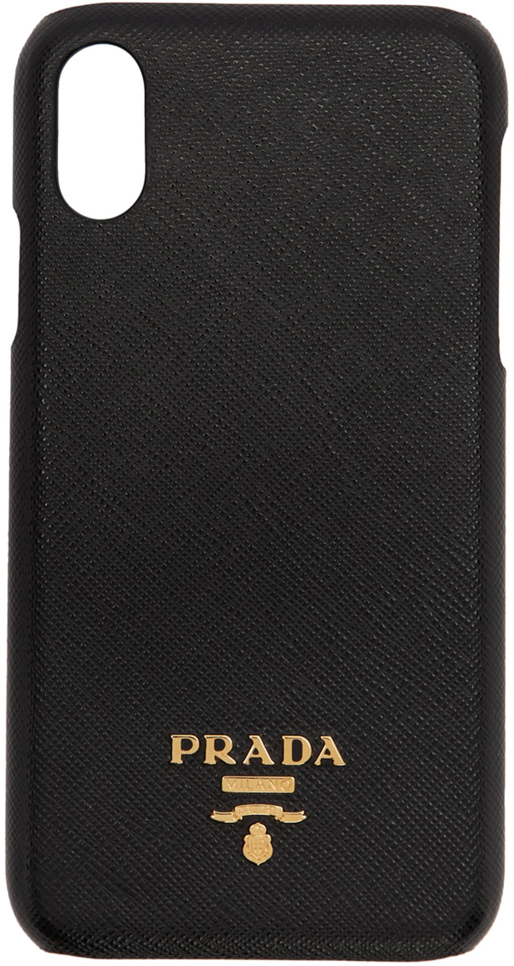best website 696d5 d7d63 Black Saffiano iPhone XR Case