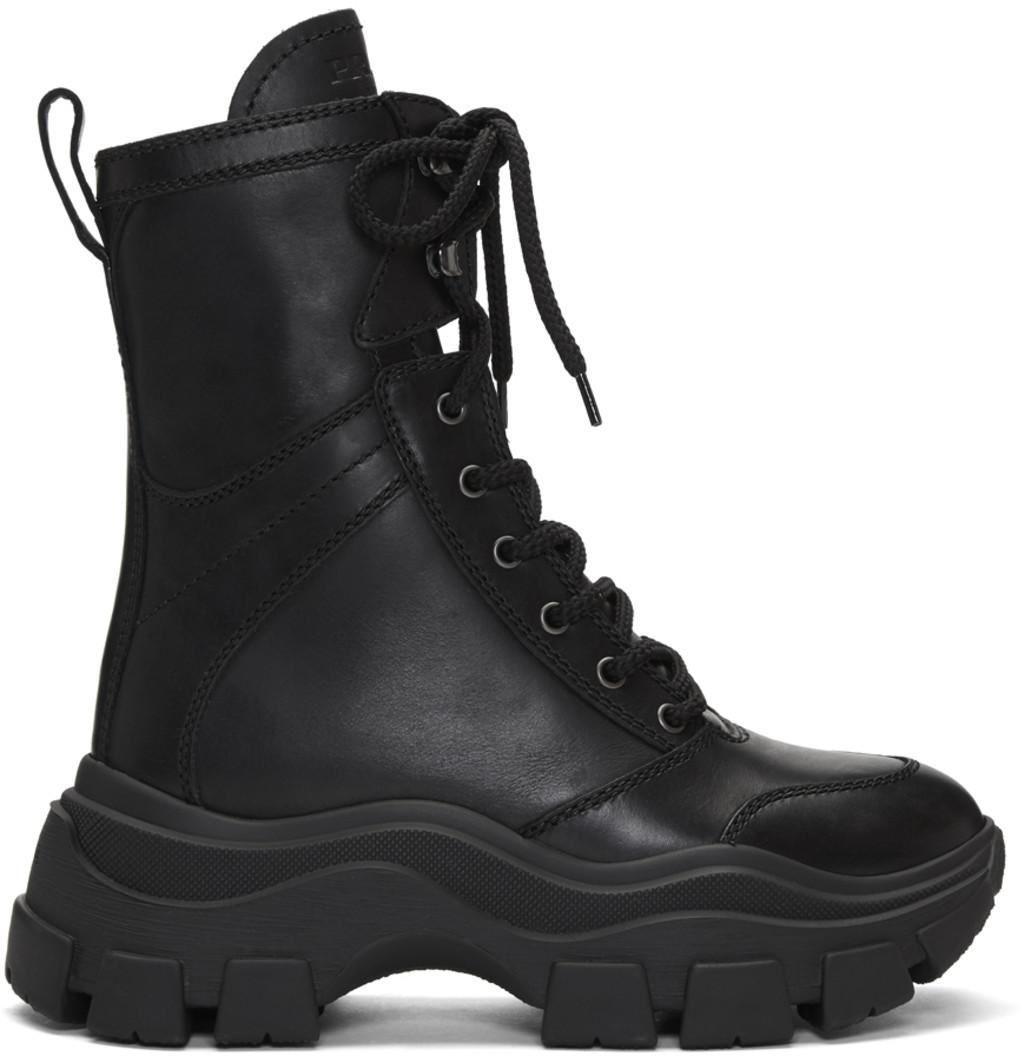 23ba175072d Black Leather Mid-Calf Boots