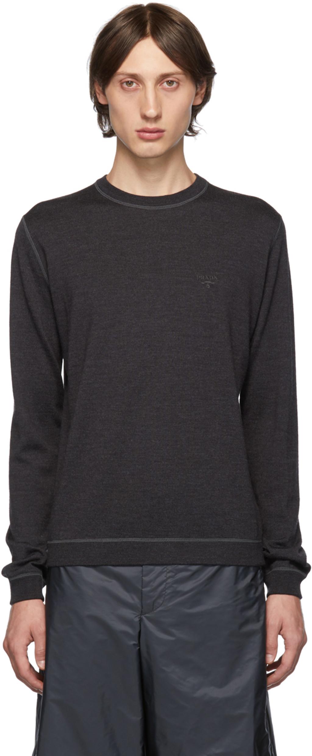 5a6b6fd63d Grey Wool Crewneck Sweater