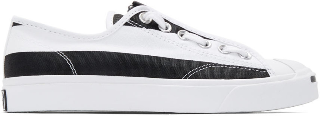 e477dee68 White & Black Converse Edition Jack Purcell Zip Sneakers