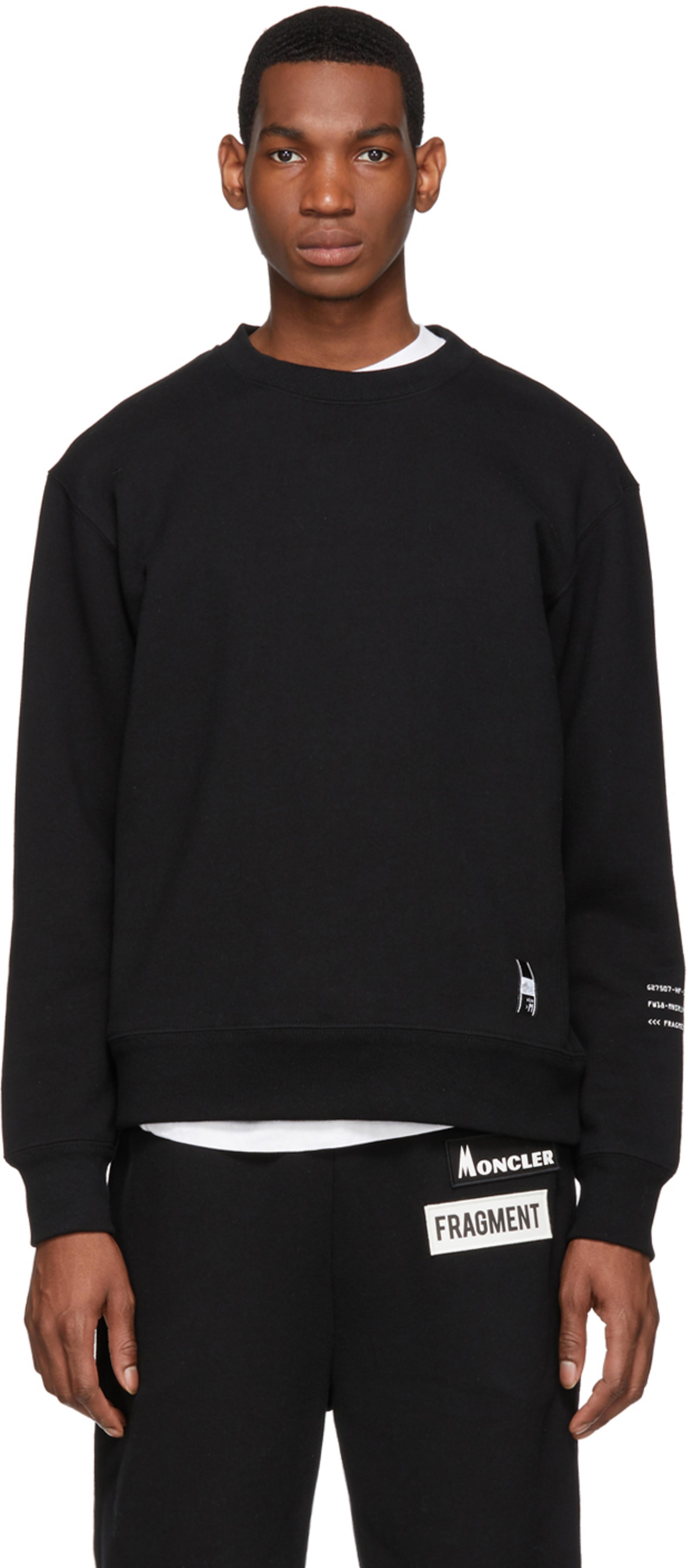 f24870e27 7 Moncler Fragment Hiroshi Fujiwara Black Logo Maglia Sweatshirt