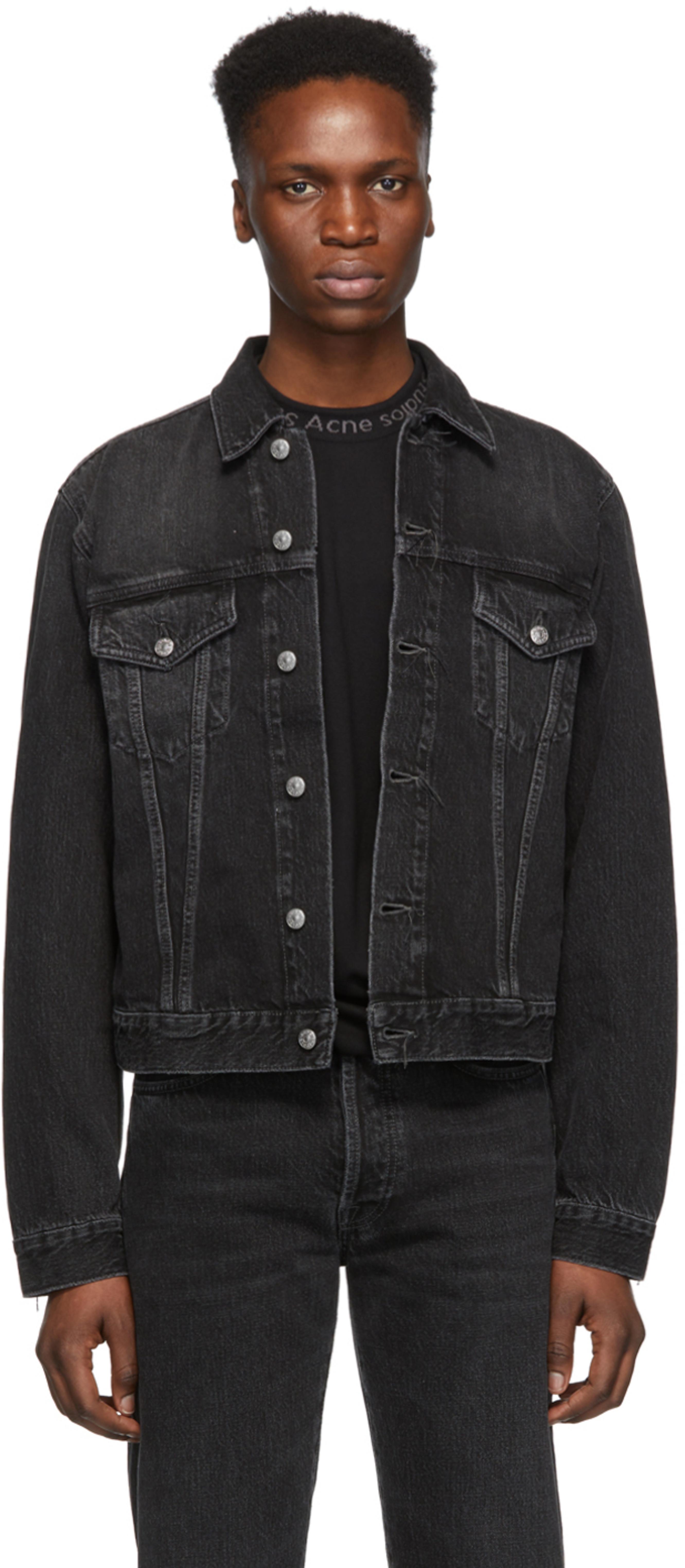 fc069f6a2 黑色 Blå Konst 1998 Metal 牛仔夹克