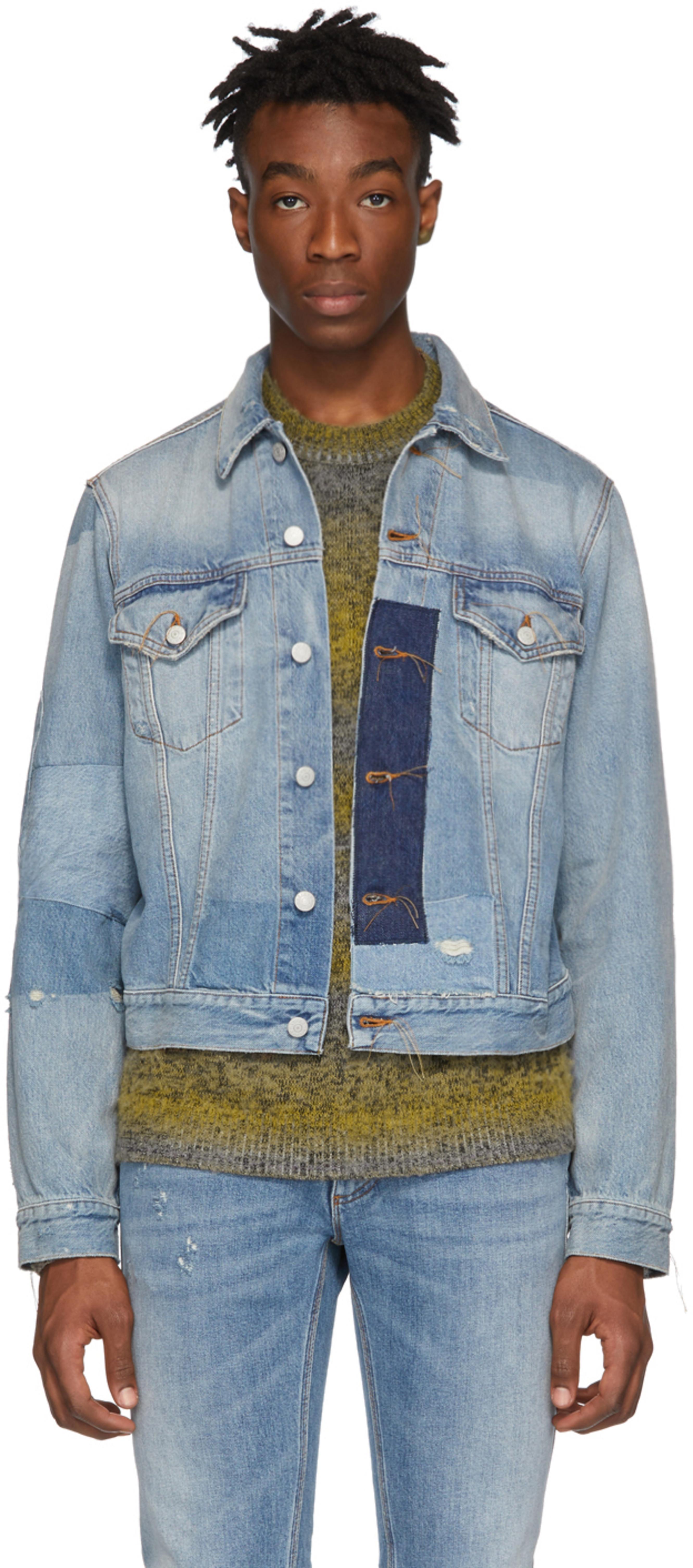 fa19b7dd4 靛蓝色Blå Konst 1998 复古牛仔夹克