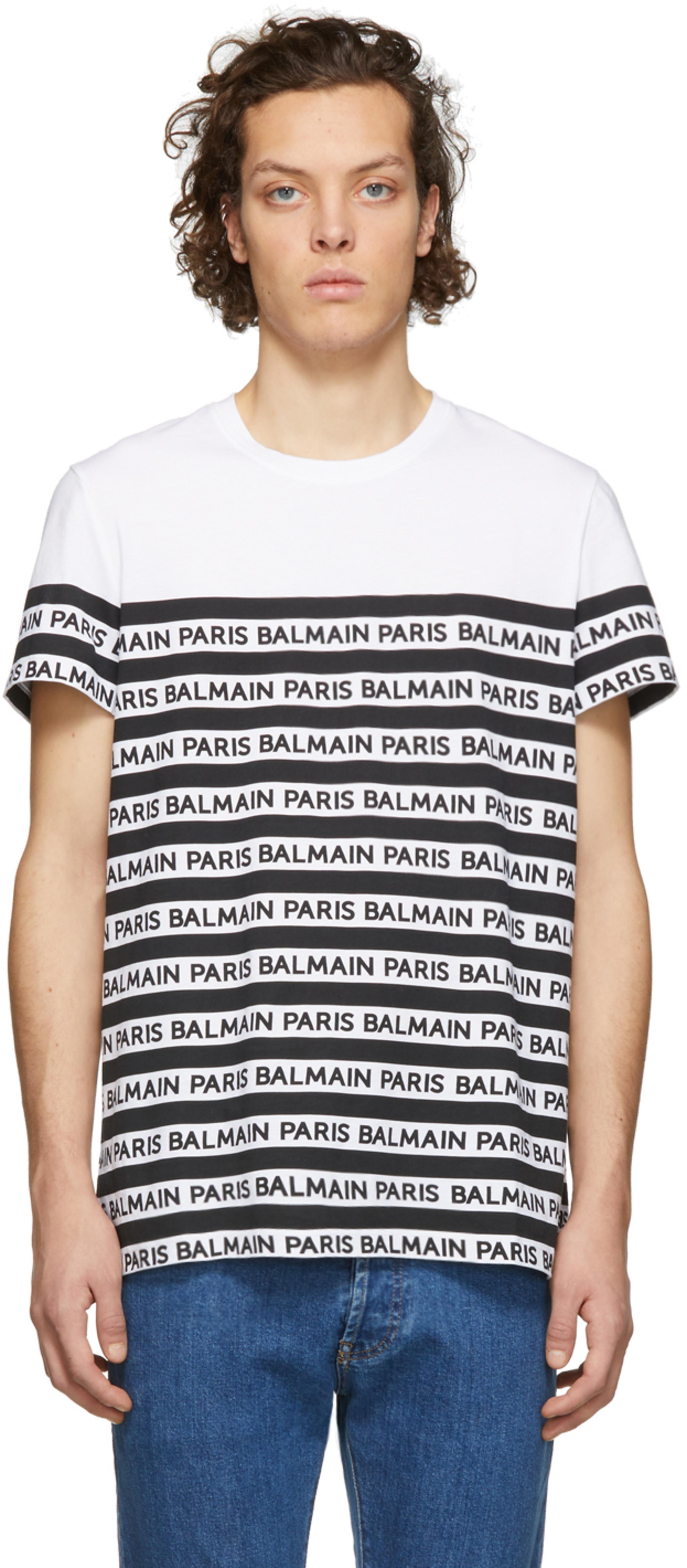 169636c0 Balmain t-shirts for Men | SSENSE