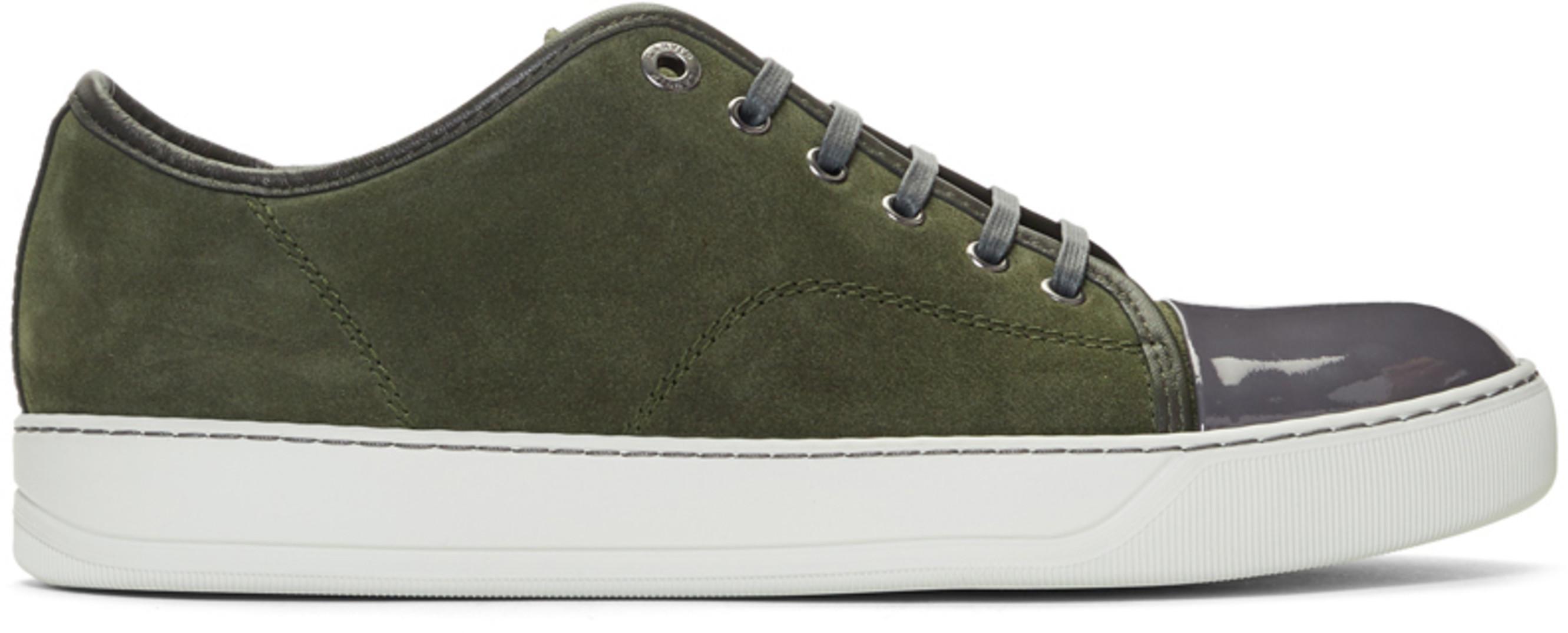 8ed32112810 Green Suede   Patent Cap Toe Sneakers