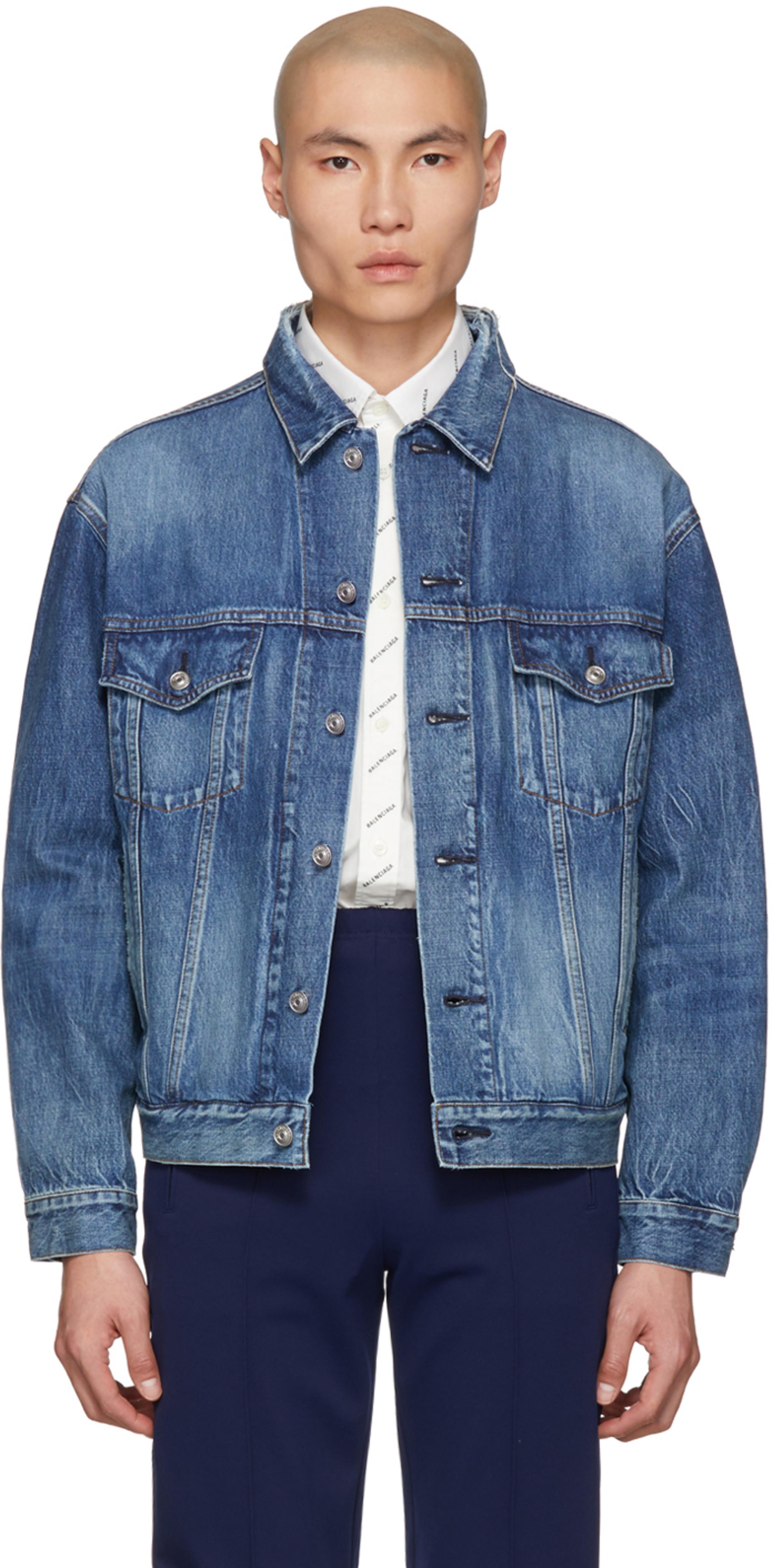 premium selection 0a656 48f7a Blue Denim Logo Jacket