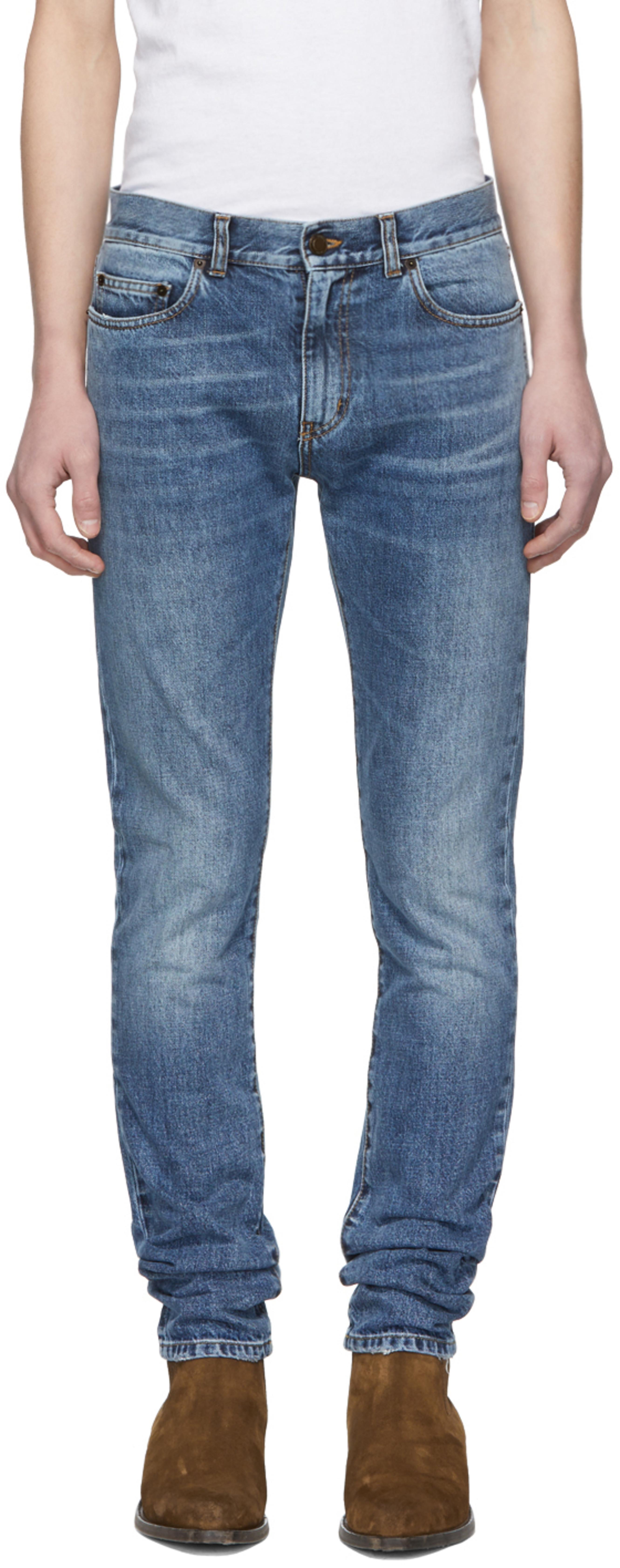 bf347e10433 Saint Laurent jeans for Men | SSENSE