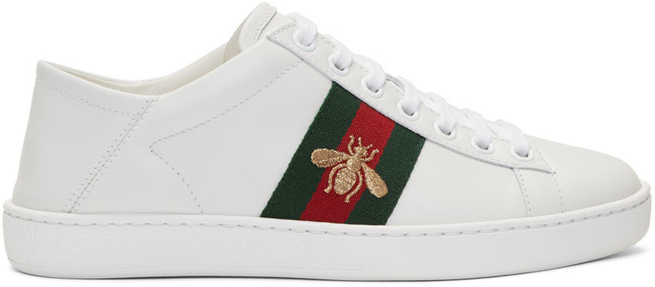 5820b99ca1 White Leather Ace Sneakers