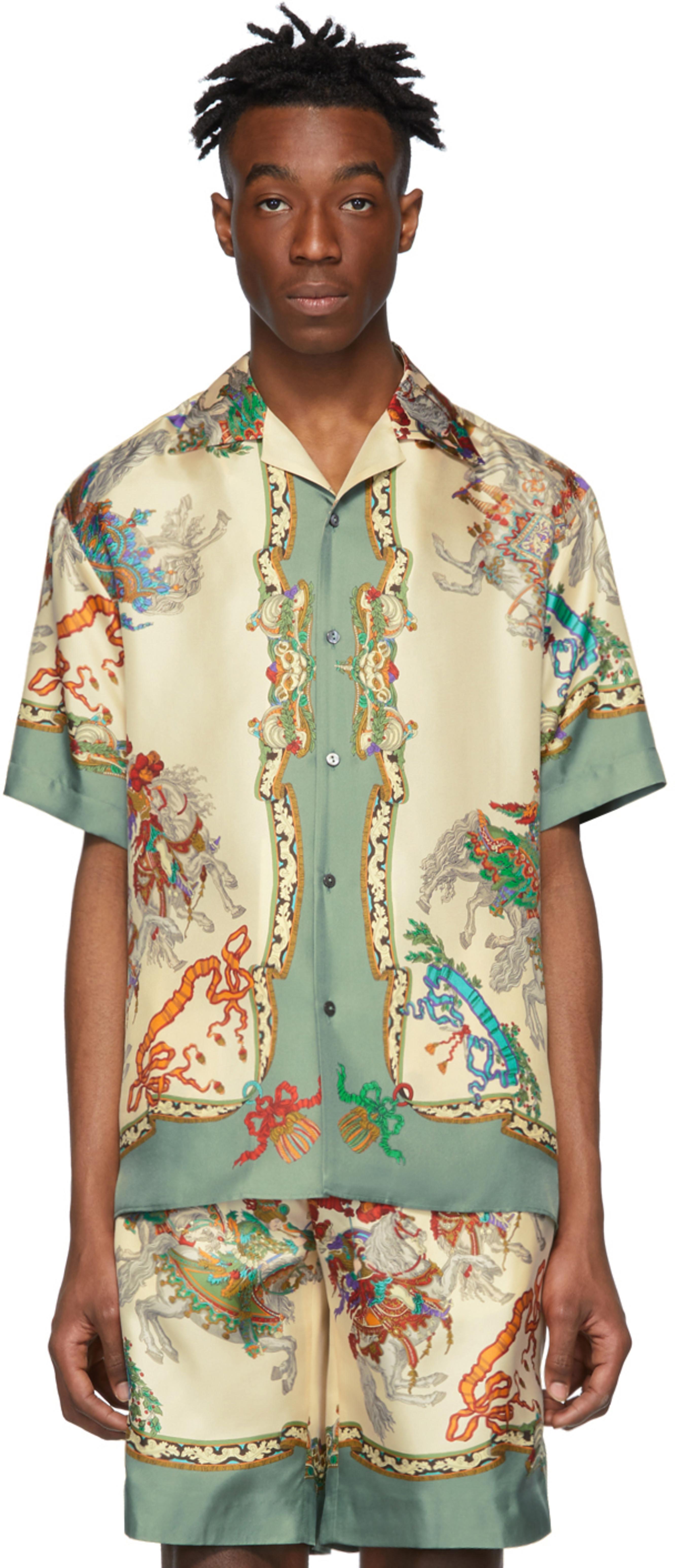 60f3d761b Gucci shirts for Men | SSENSE Canada