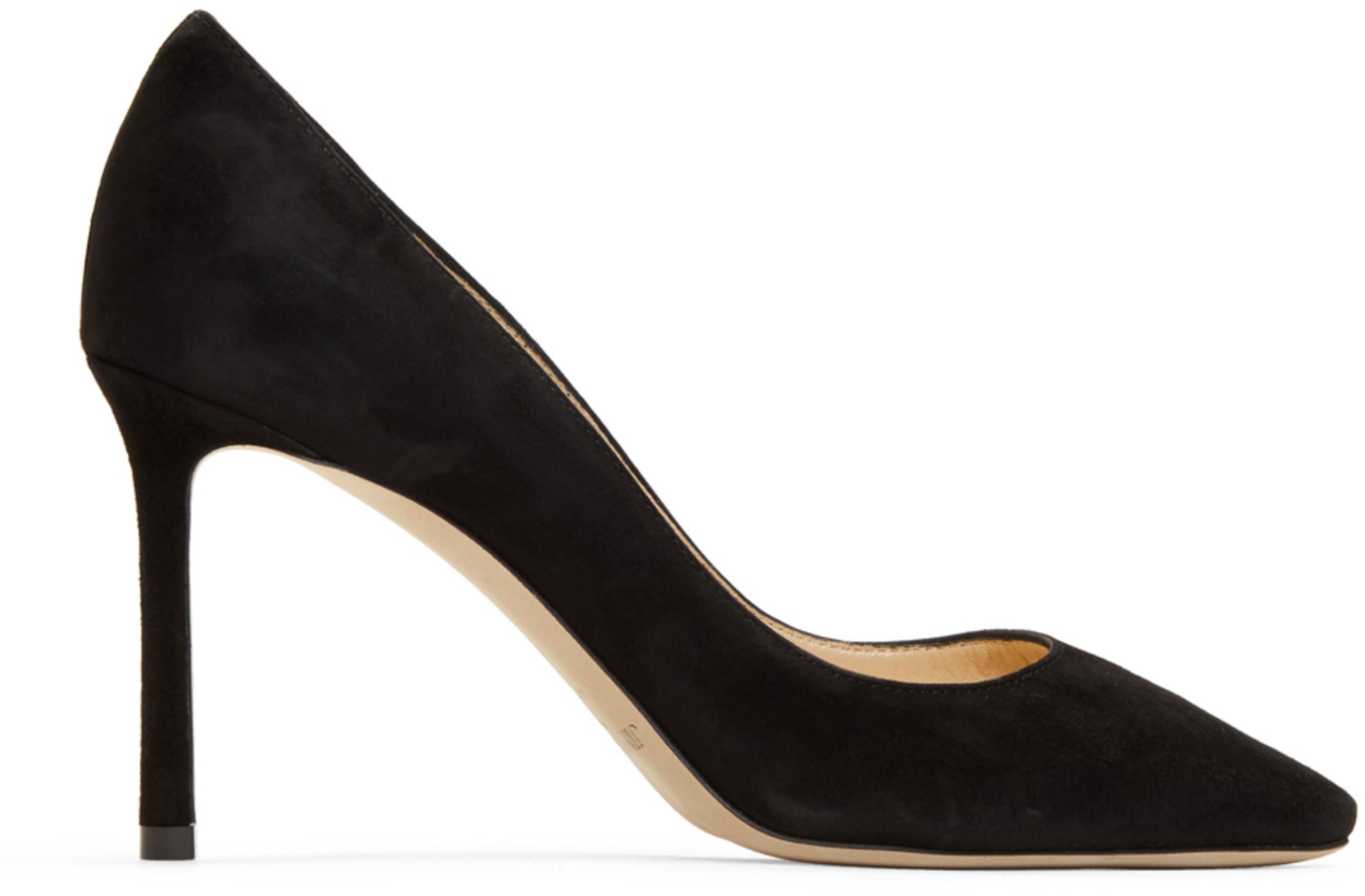 ade639d7581 Black Suede Romy 85 Heels