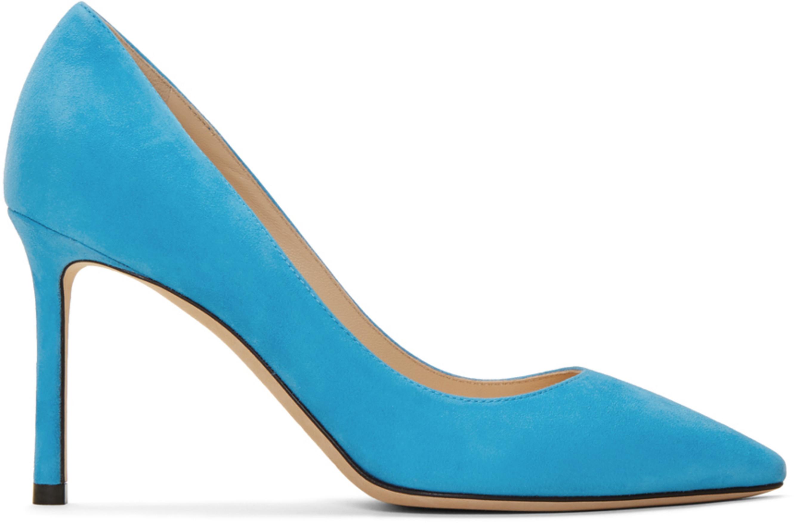 b6273c9446f Blue Suede Romy 85 Heels