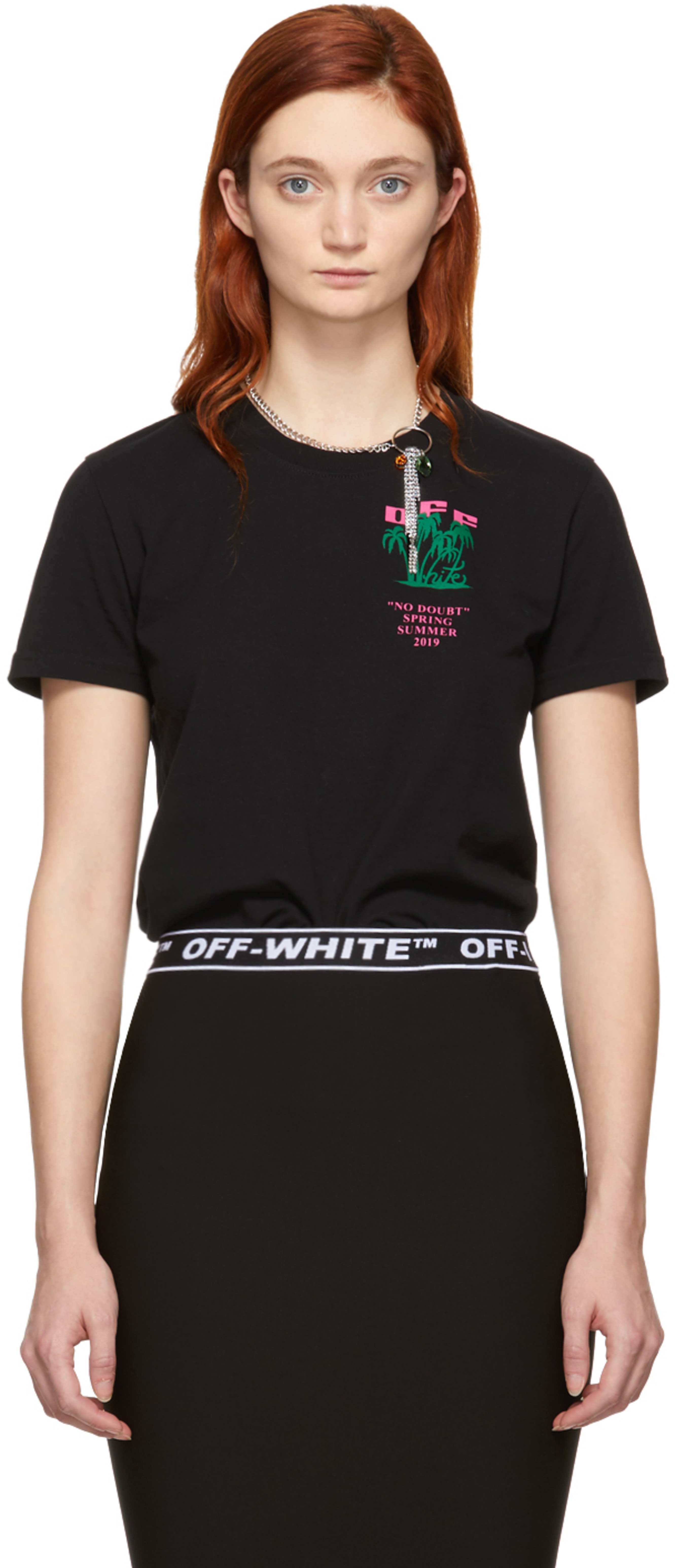 bcc6ce72fb1a Off-white t-shirts for Women | SSENSE