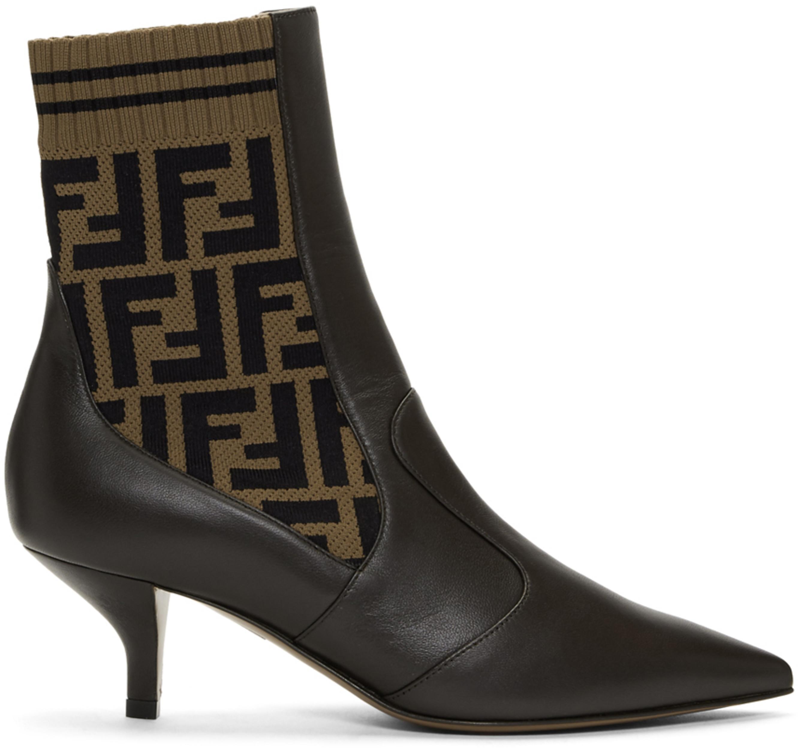 05a6d0d6d9c Brown 'Forever Fendi' Rockoko Boots