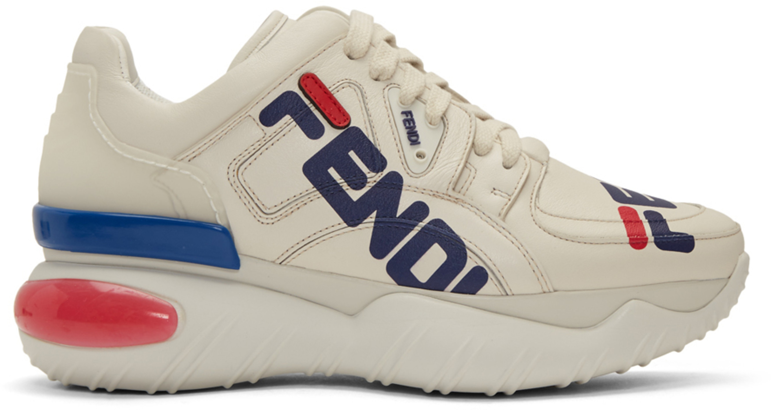 release date 69f26 ce082 White 'Fendi Mania' Chunky Sneakers