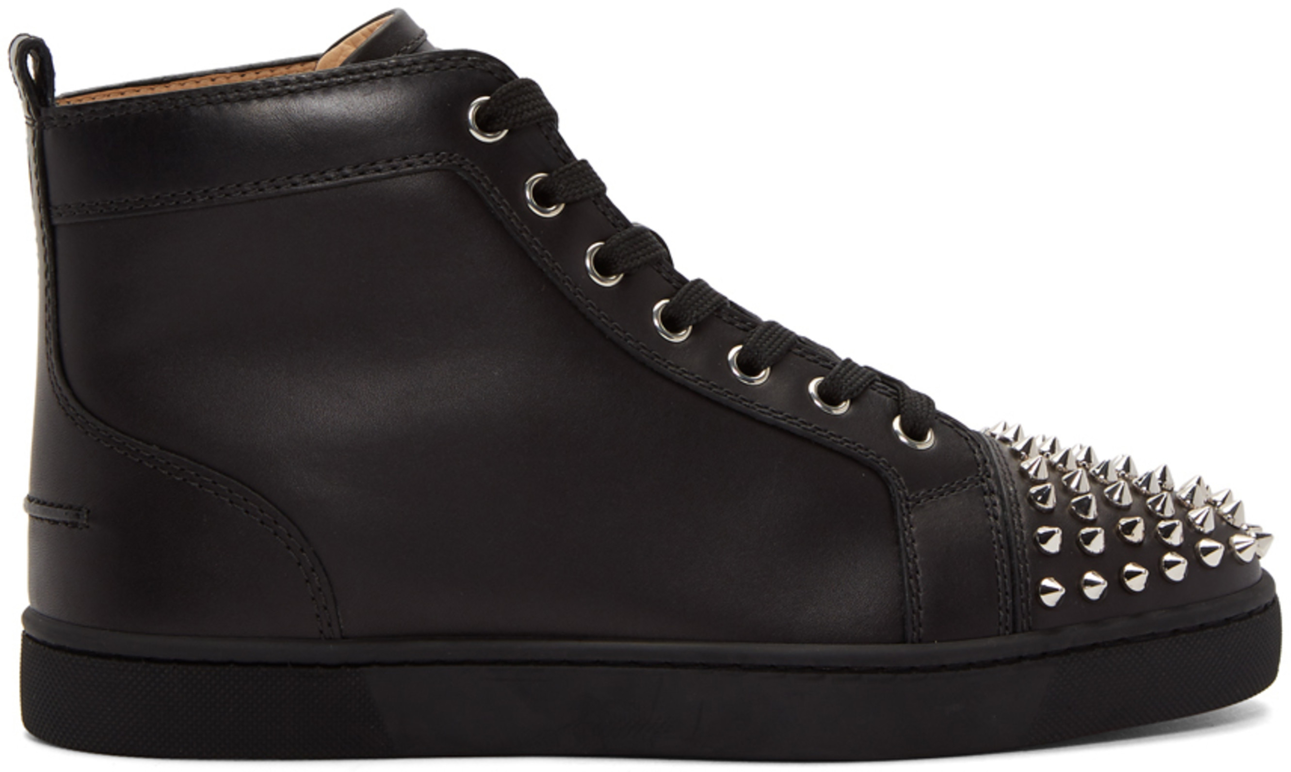 uk availability 4cd08 bc650 Black Lou Spikes High-Top Sneakers