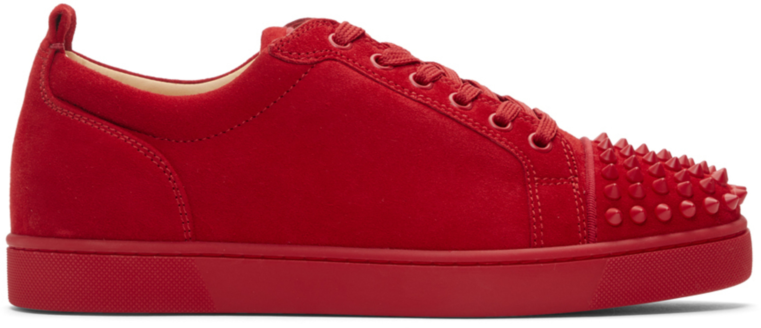 promo code bb3b6 aecd2 Red Suede Louis Junior Spikes Sneakers