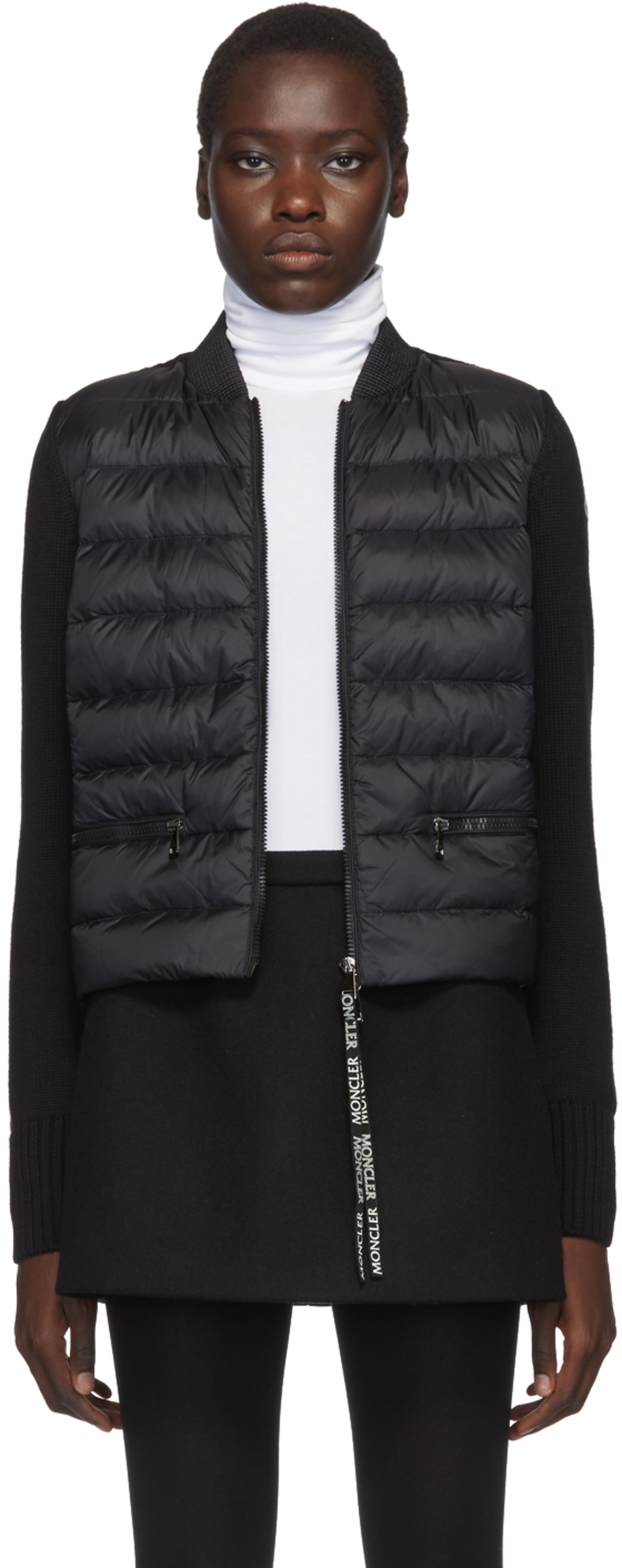 factory authentic e1d59 e7f4c Black Knit Down Jacket