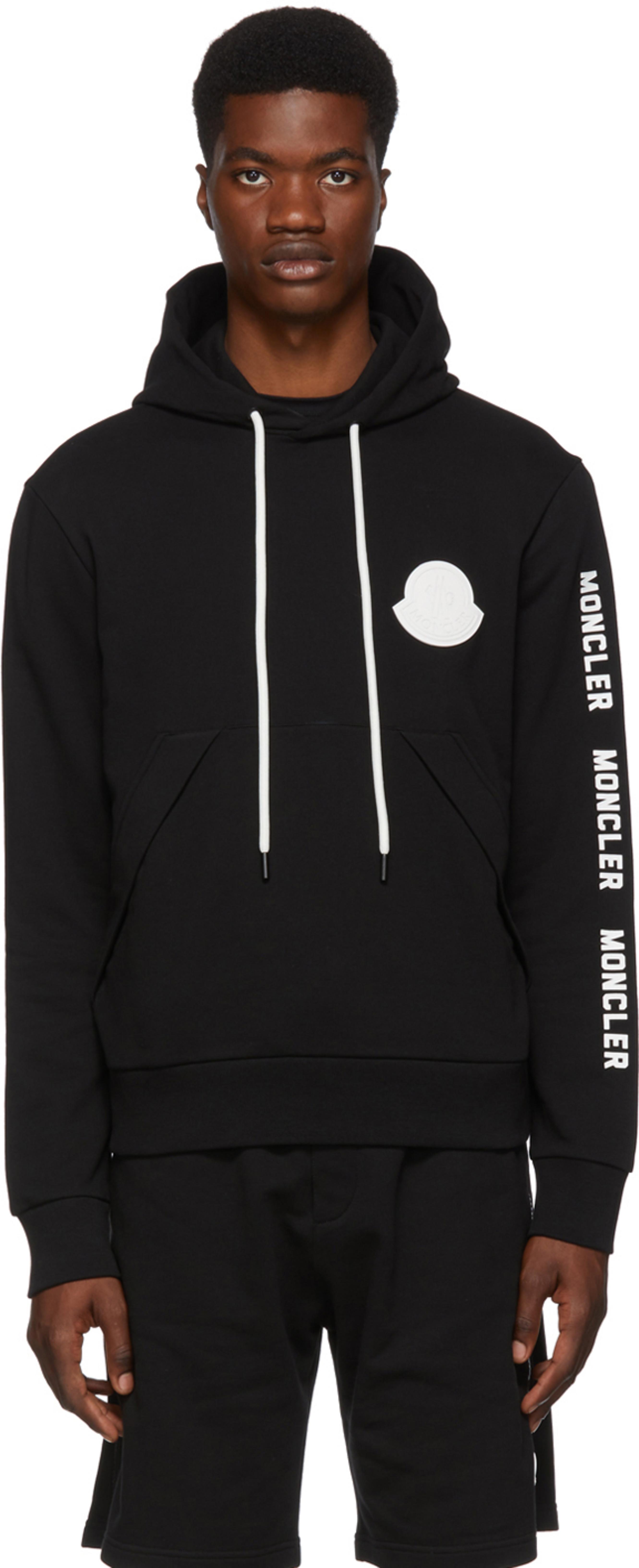 meet 66512 0f984 Black Logo Hoodie