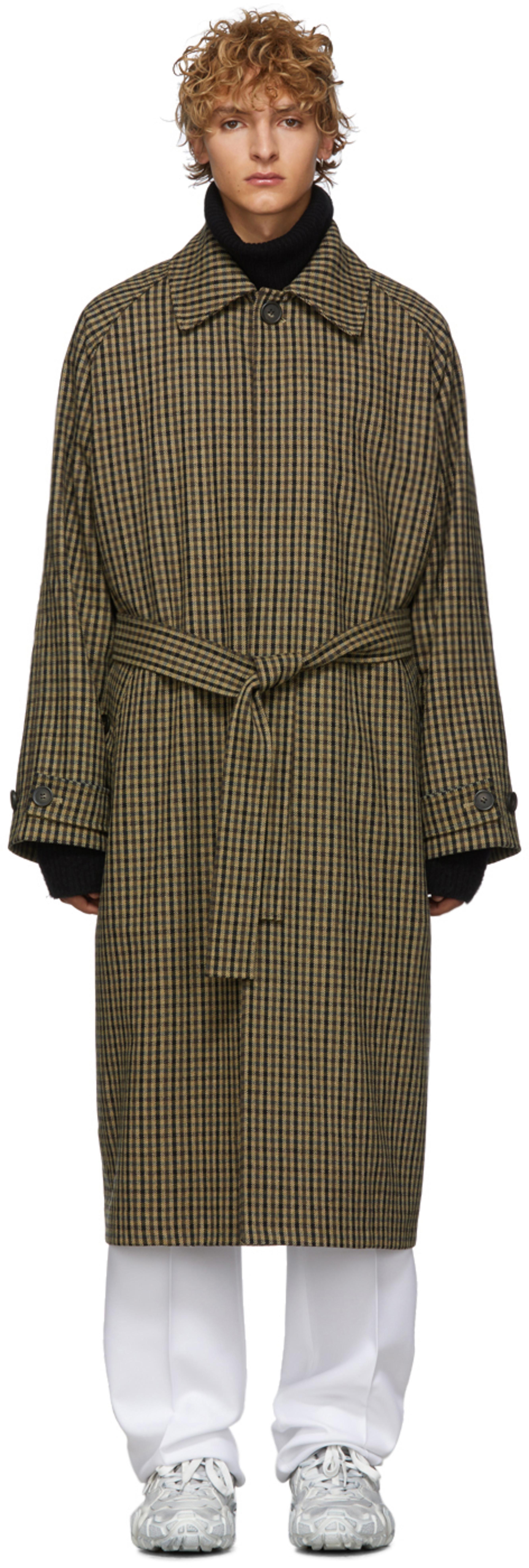8fe5405f8 驼色 Vichy 格纹羊毛风衣