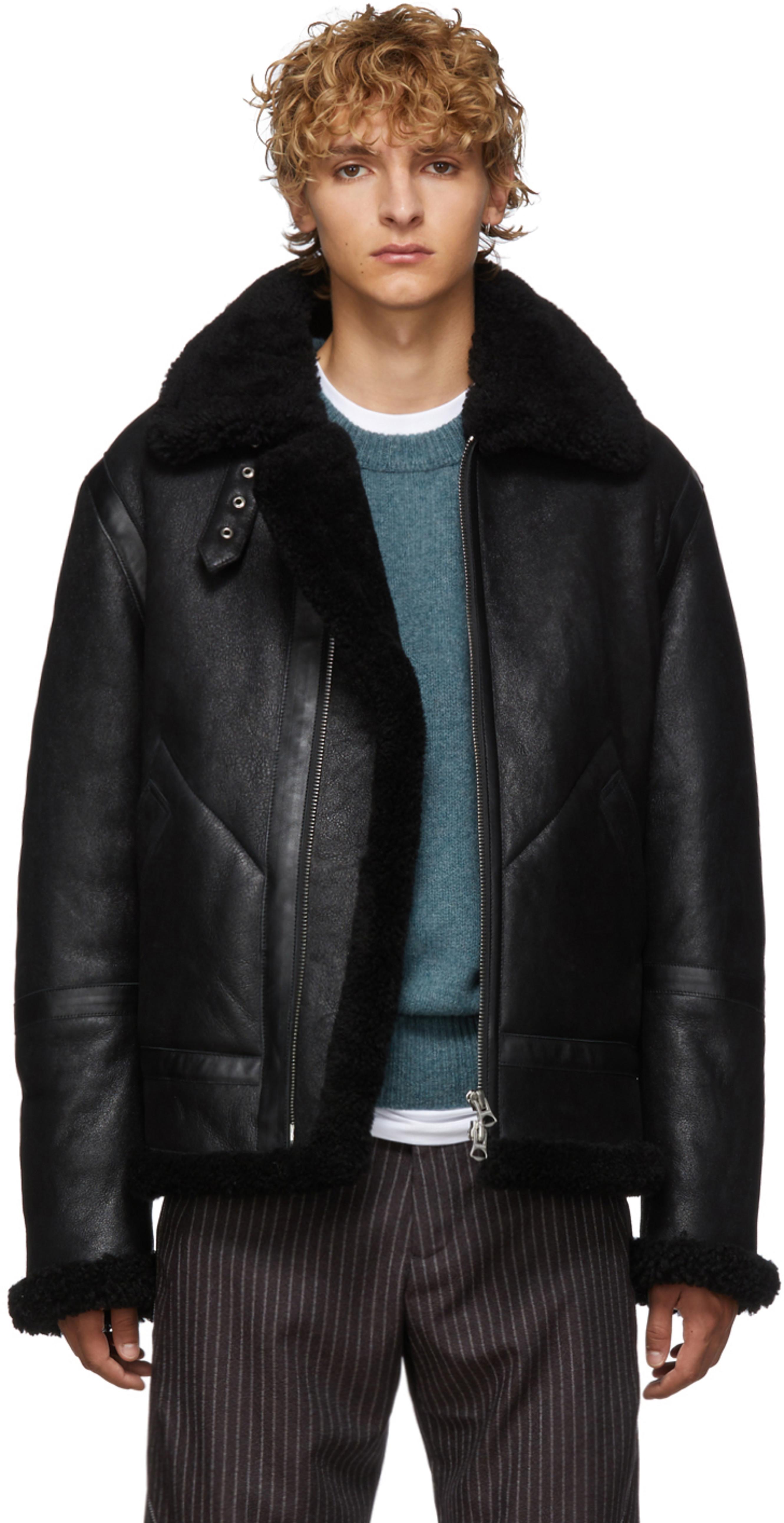 1c5b42de4 黑色 Ian 剪羊毛夹克