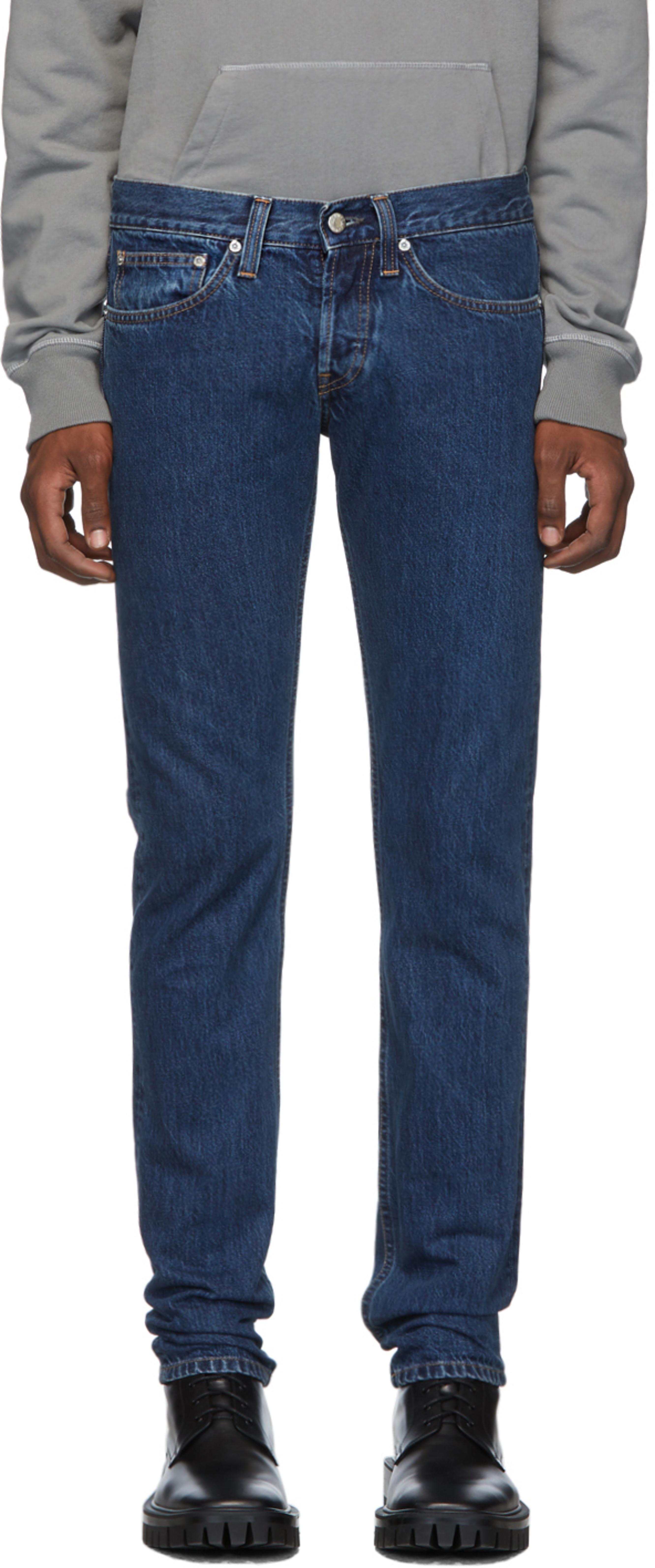 Blue Masc Lo Drainpipe Jeans
