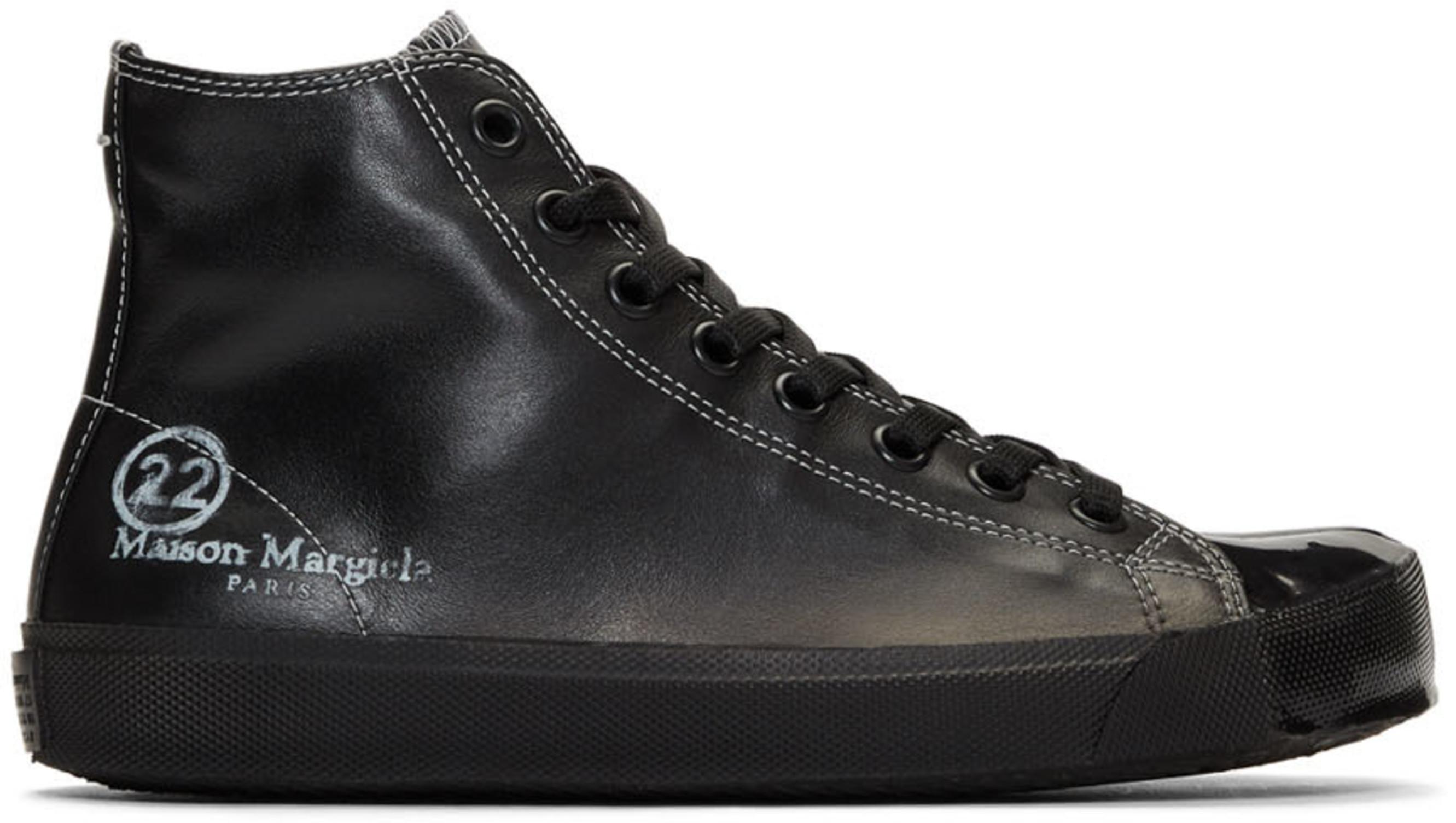 42a3f507816 Black Tabi High-Top Sneakers