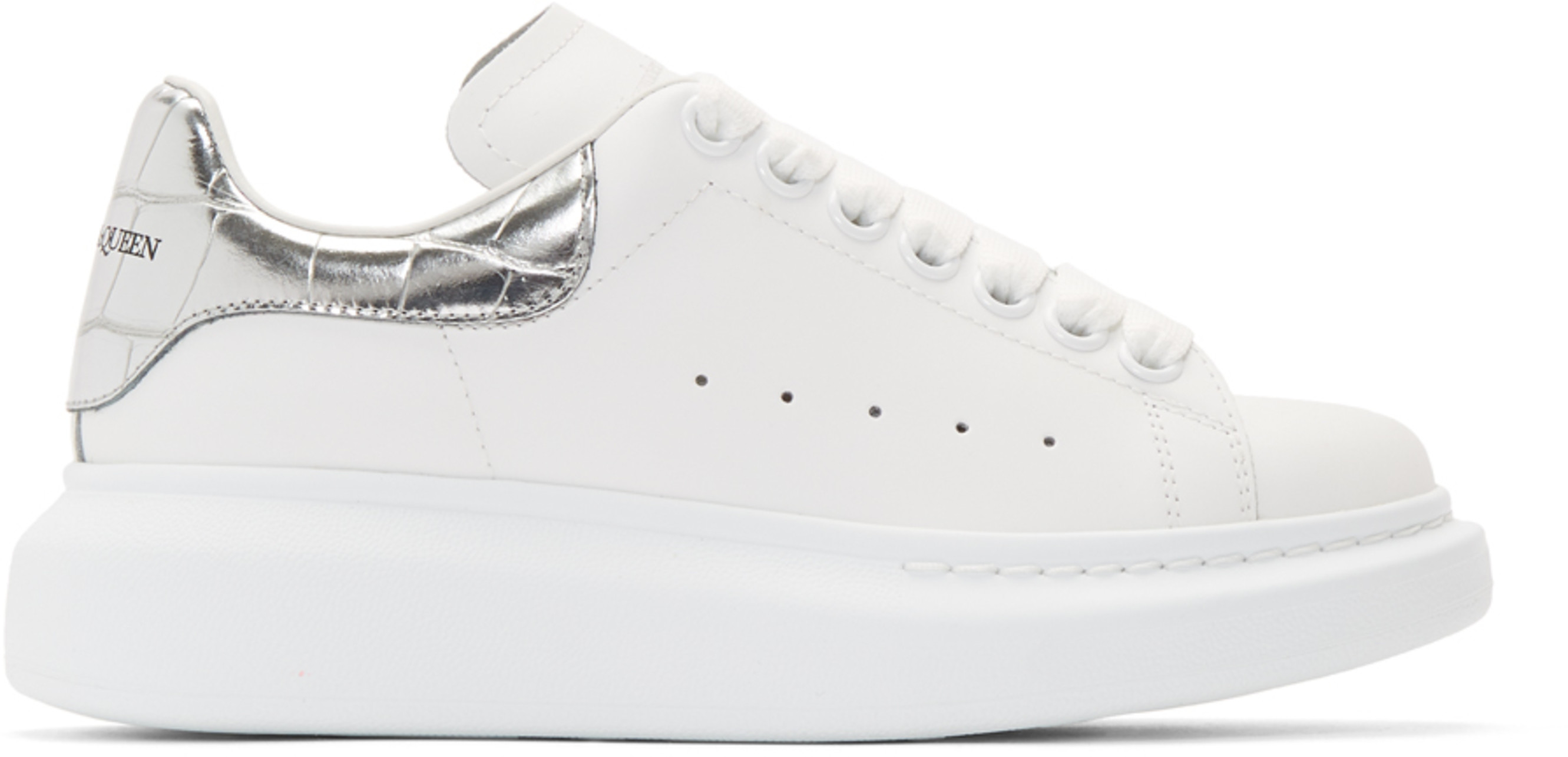 White & Silver Oversized Sneakers