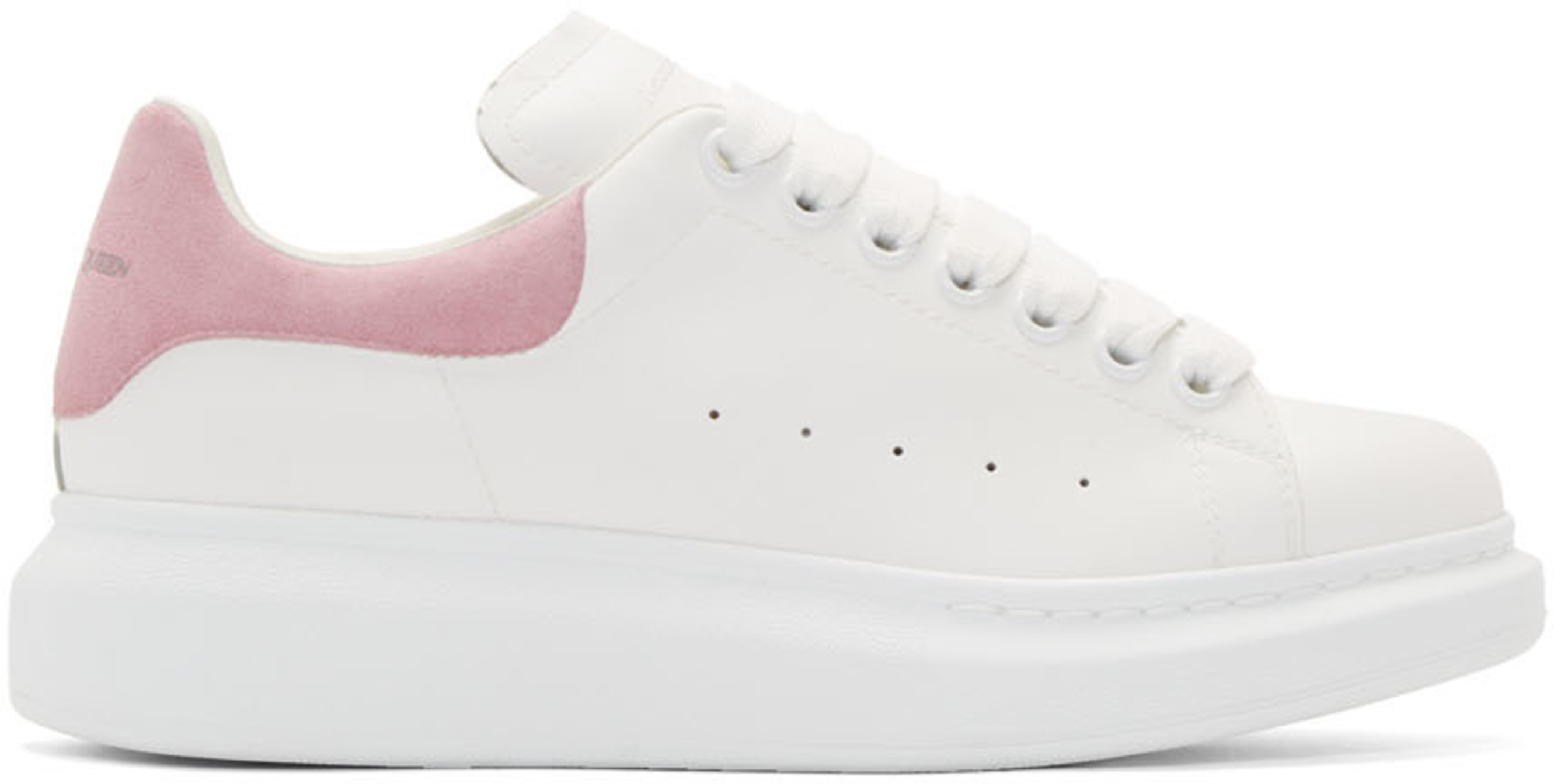 SSENSE Exclusive White & Pink Oversized Sneakers