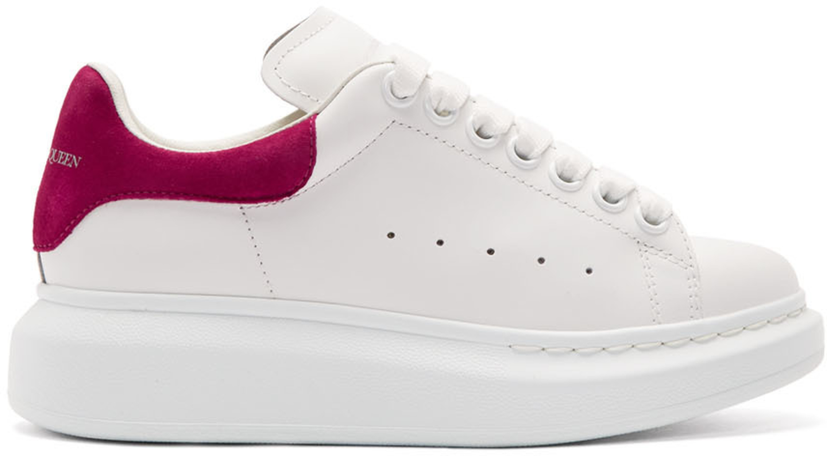 White & Pink Oversized Sneakers