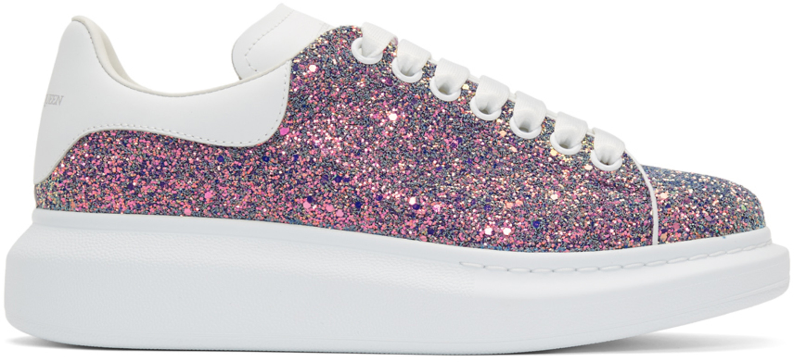 Multicolor Shell Glitter Oversized Sneakers