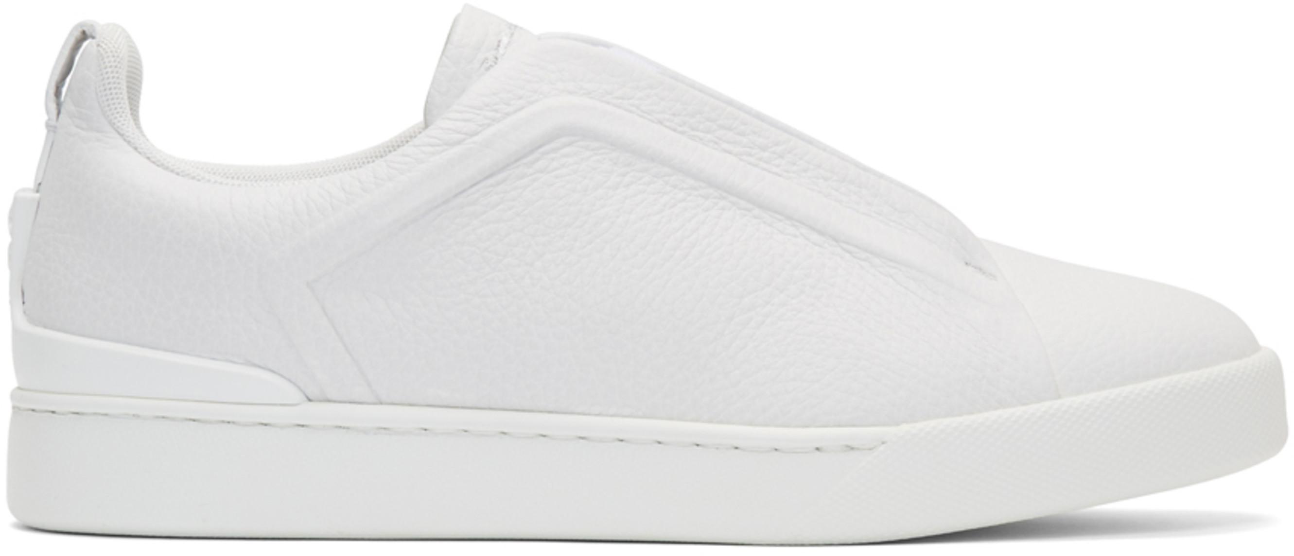 9ec0f87a White Triple Stitch Slip-On Sneakers