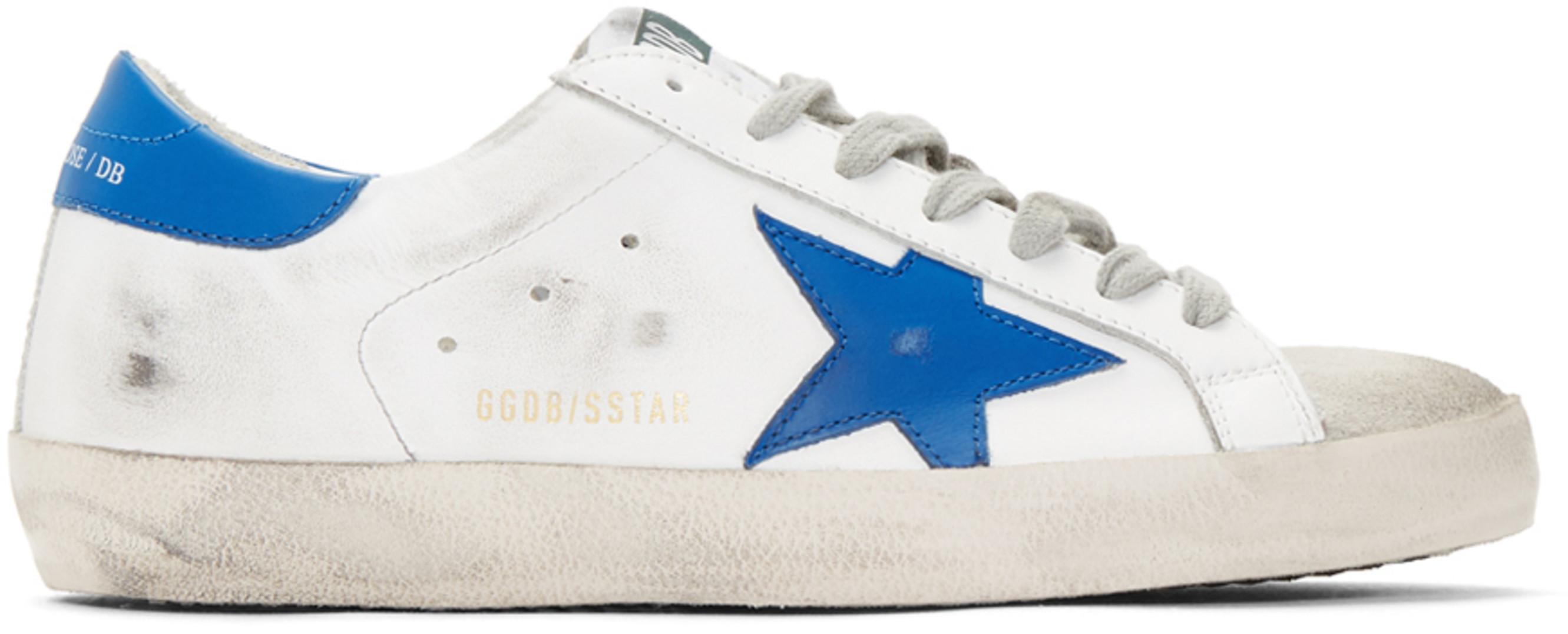 e45687c513 White & Blue Superstar Sneakers