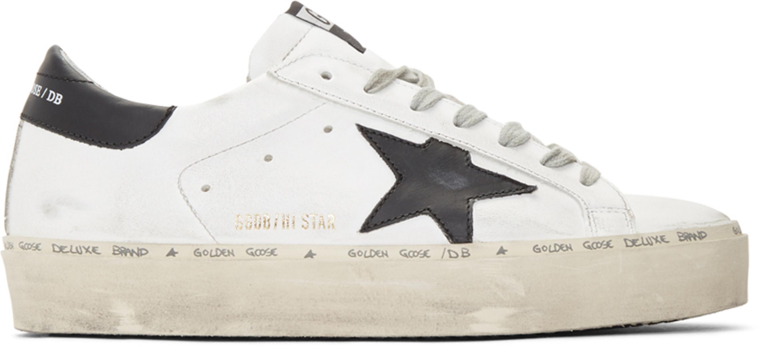 8c47a91ffc White & Black Hi Star Sneakers