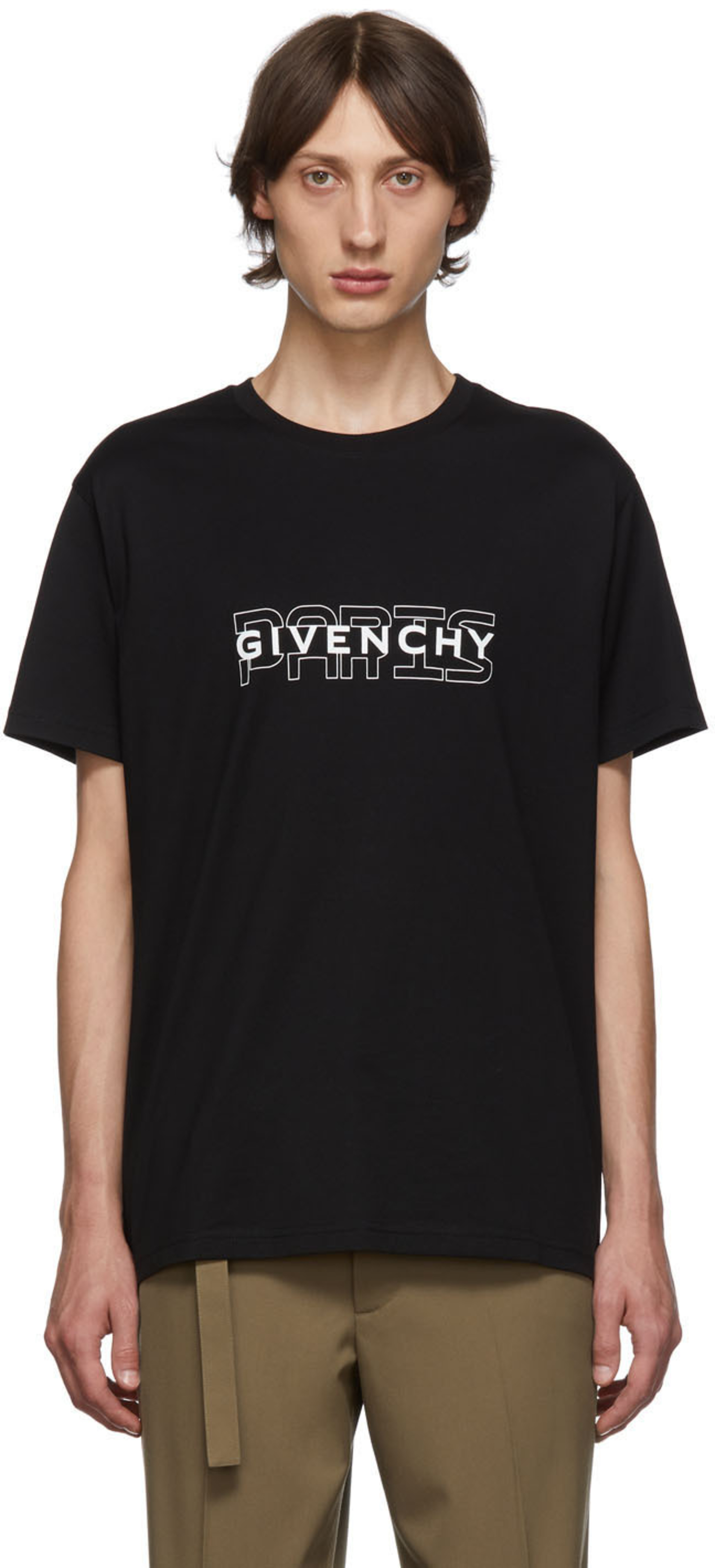 642ed753c6c36 T-shirt noir 'Givenchy Paris'