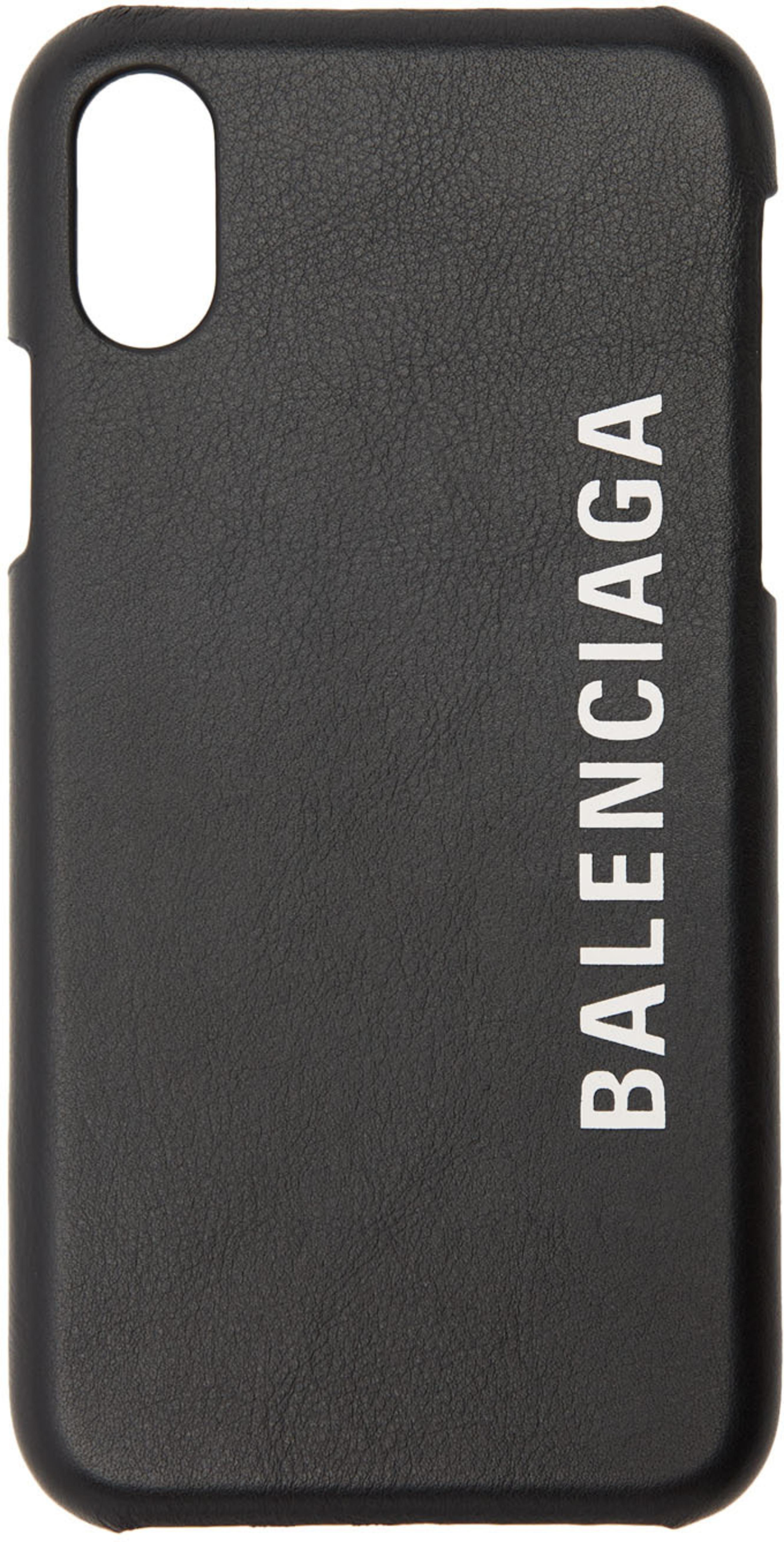 881df55590e Black Leather Logo iPhone X/XS Case