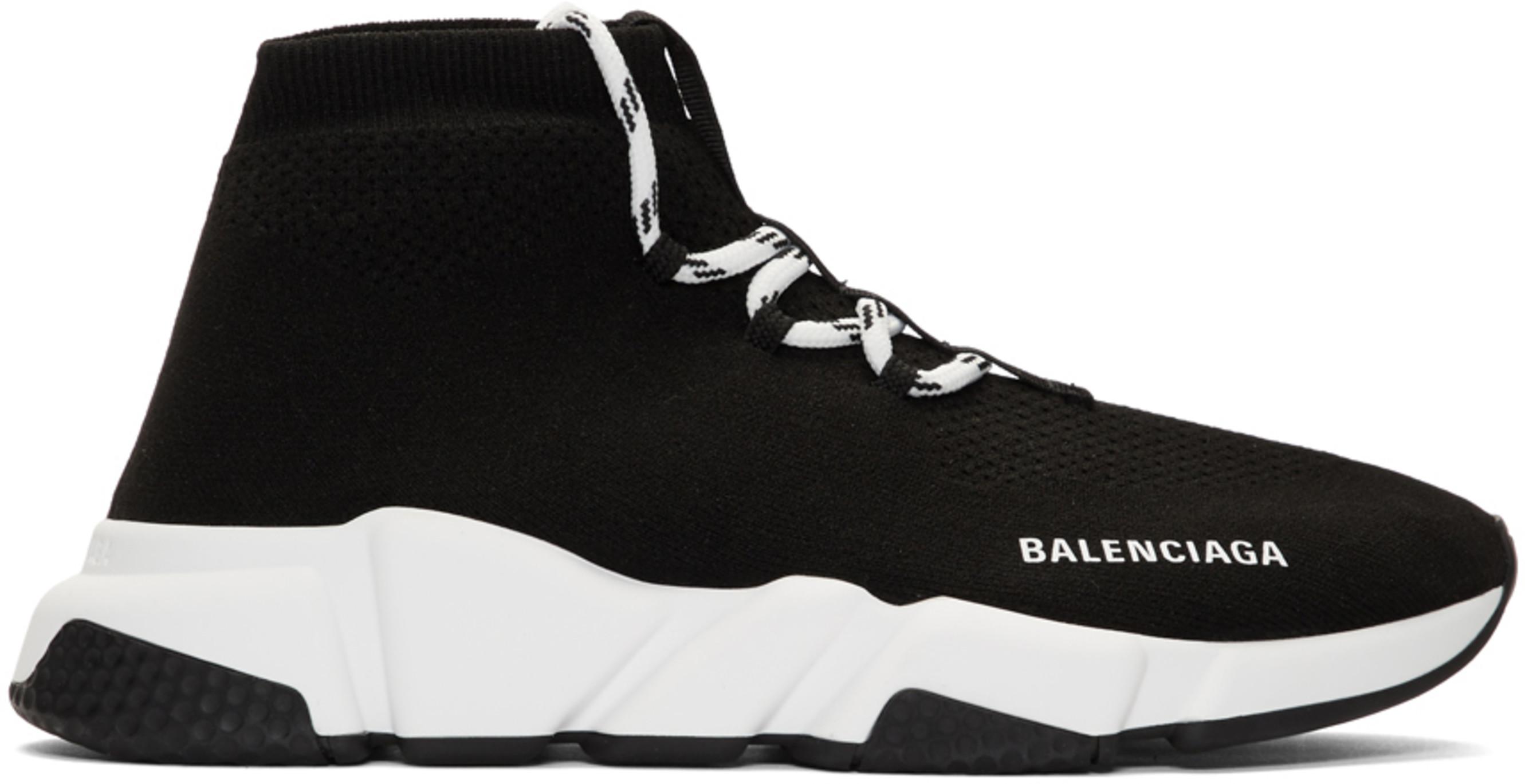 magasin en ligne 44e96 2bcdf Baskets lacées noires Speed