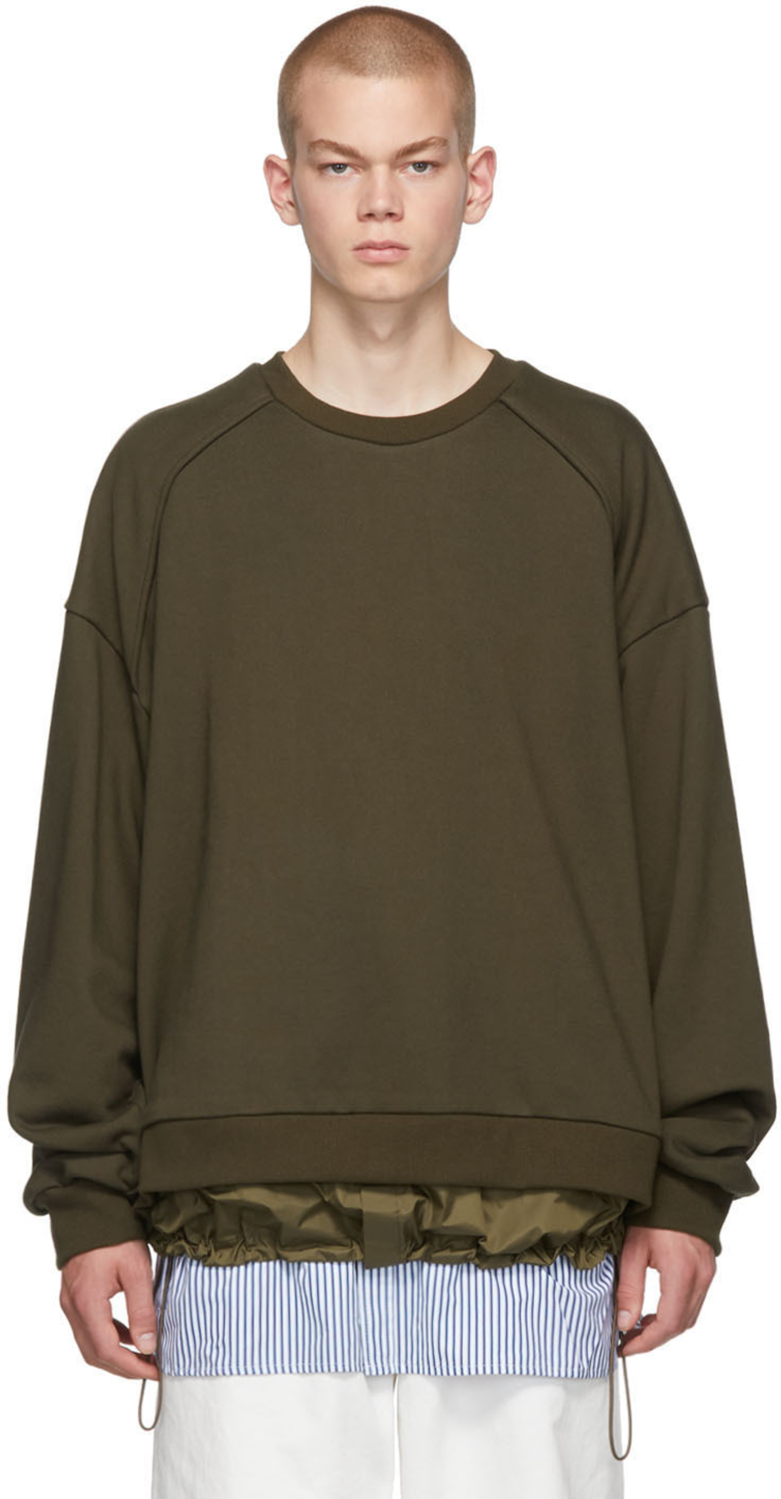1368df2cb Khaki Layered Sweater