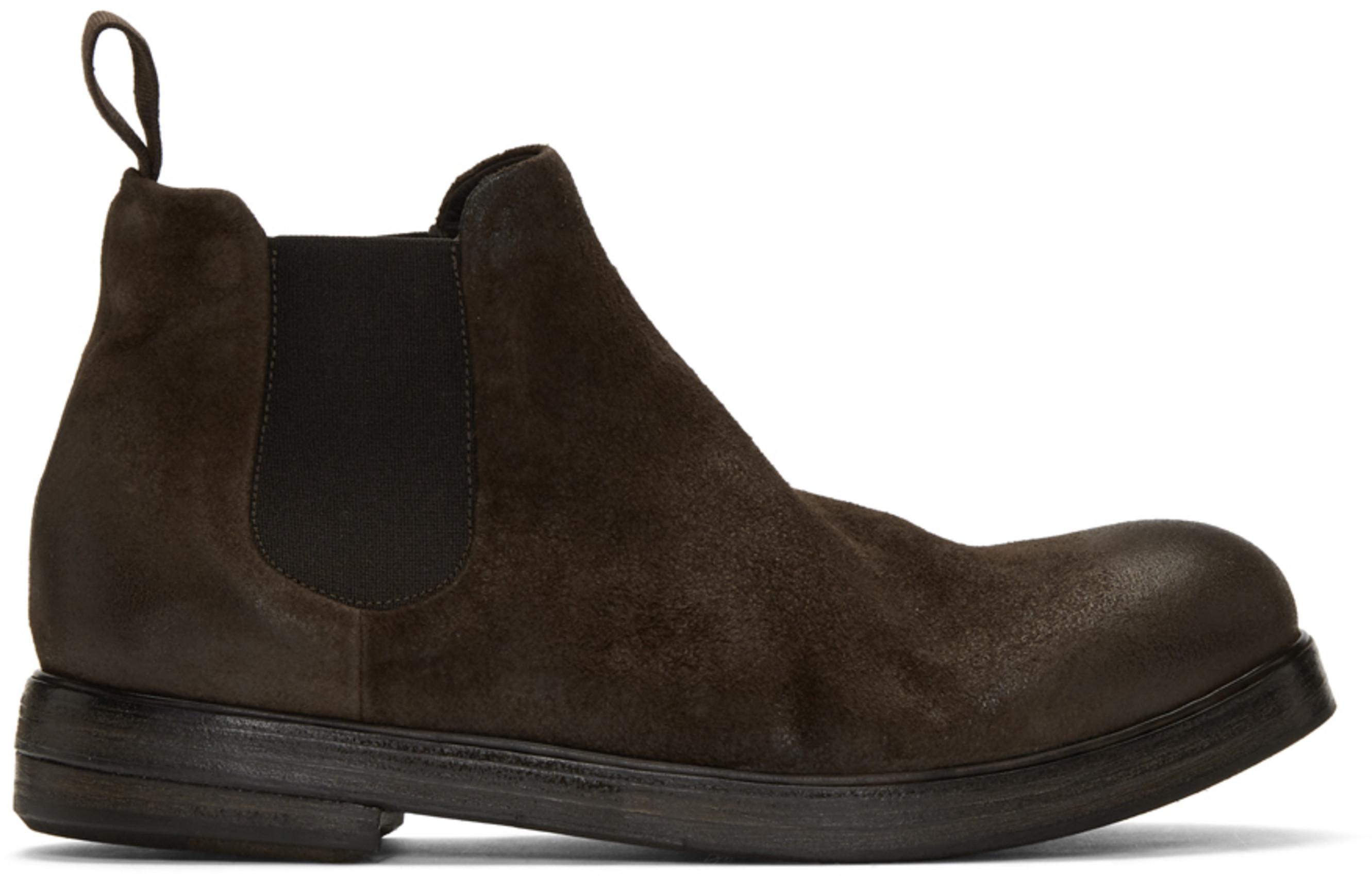 b70a60ef9ff Brown Suede Zucca Zeppa Beatles Chelsea Boots
