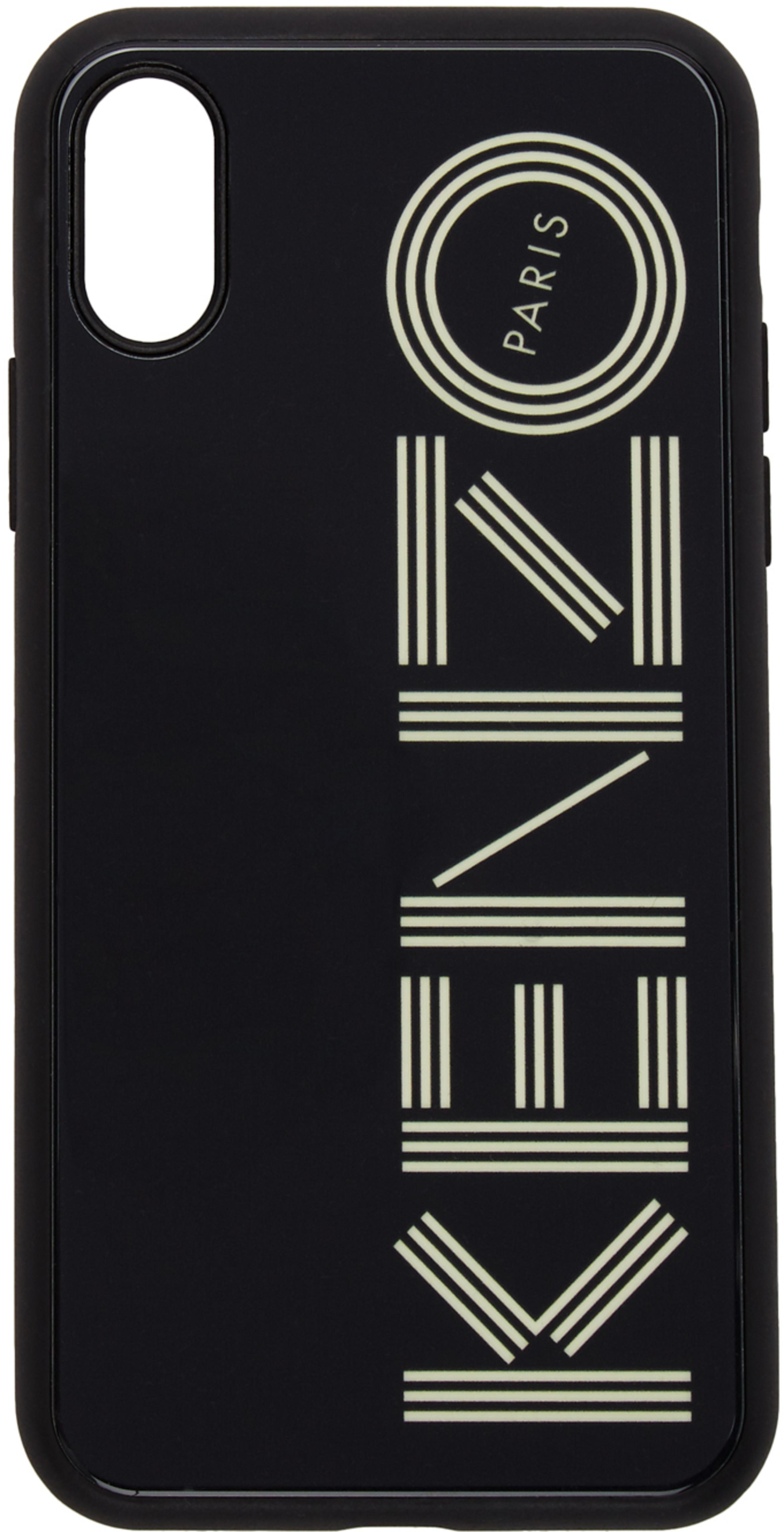 f2d2dffb Black Glow-In-The-Dark Logo iPhone X/XS Case