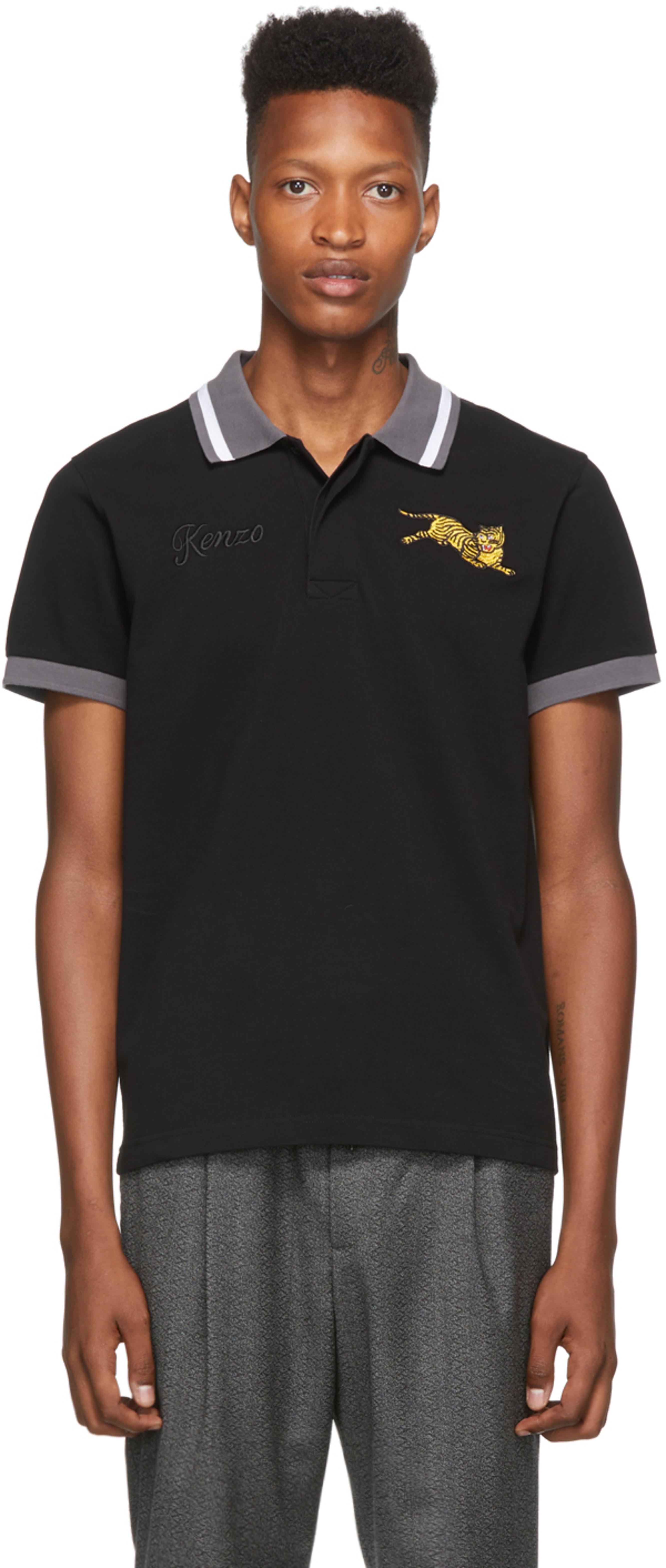 517f90d8c Black Jumping Tiger Polo