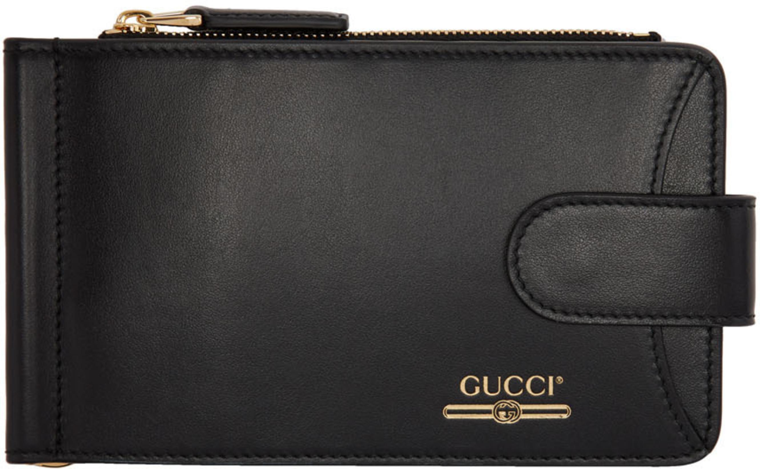 f4a2c734d Black Money Clip Bifold Wallet