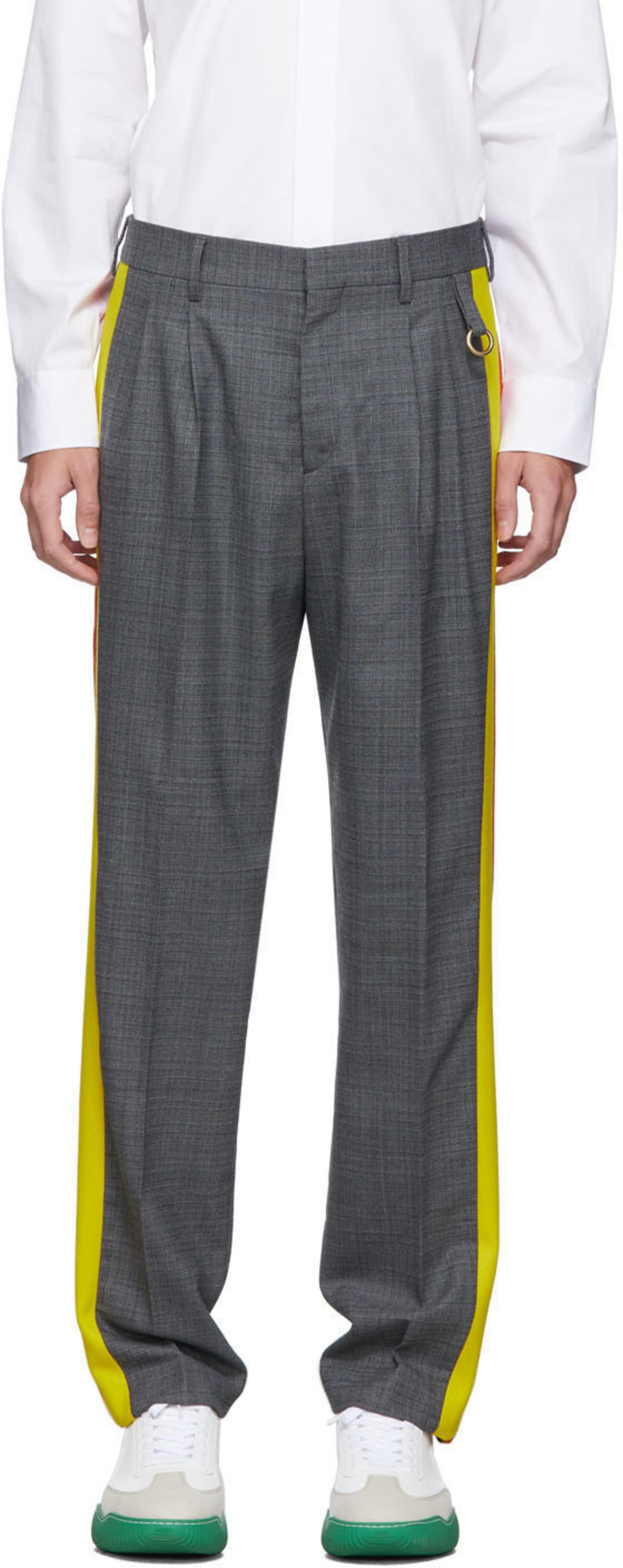 Grey New Julian Contrast Trousers