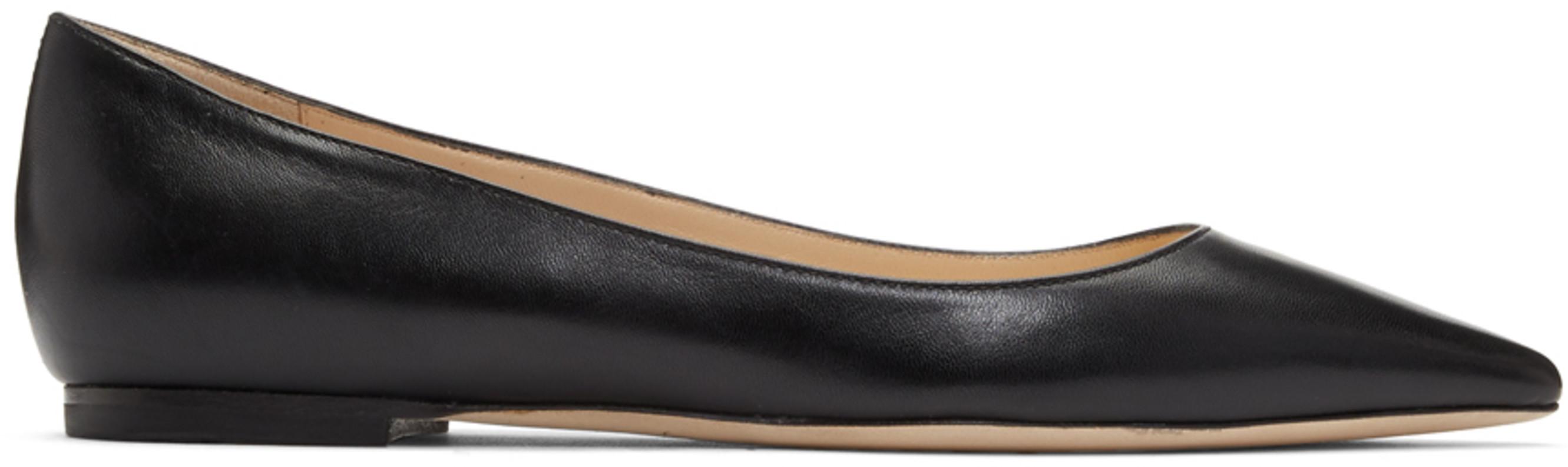 900ca5945fd Black Leather Romy Flats