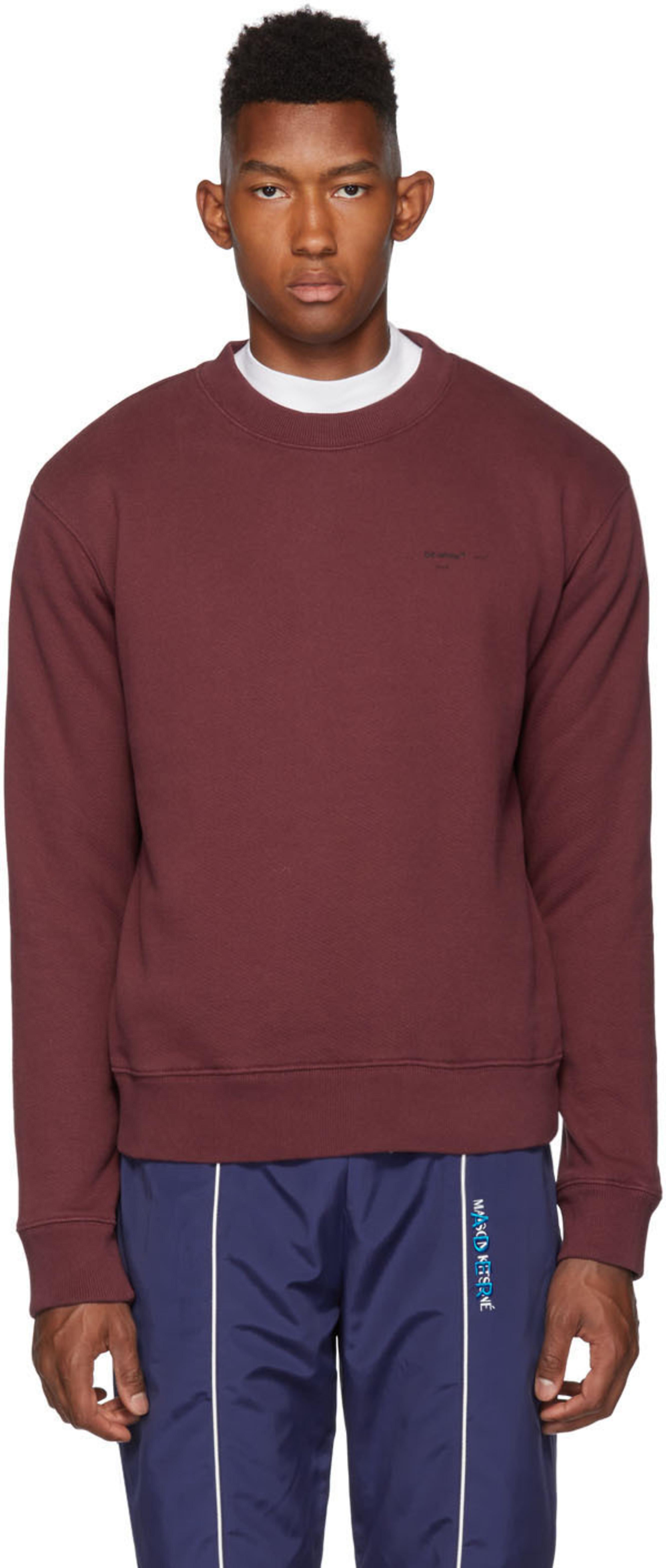 f03dcee702 Burgundy Logo Slim Sweatshirt