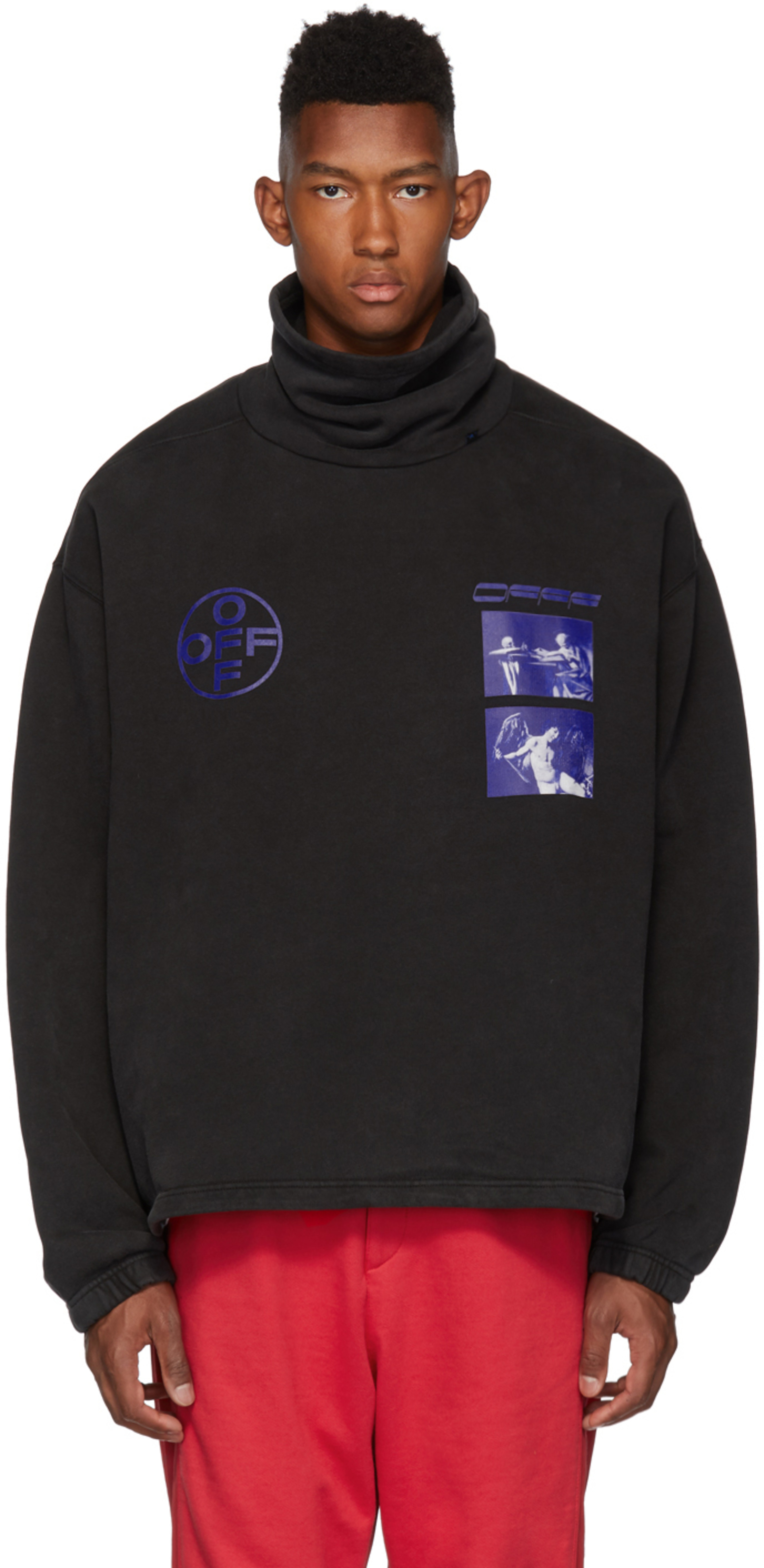 Black & Blue Hardcore Caravaggio Funnel Neck Sweatshirt