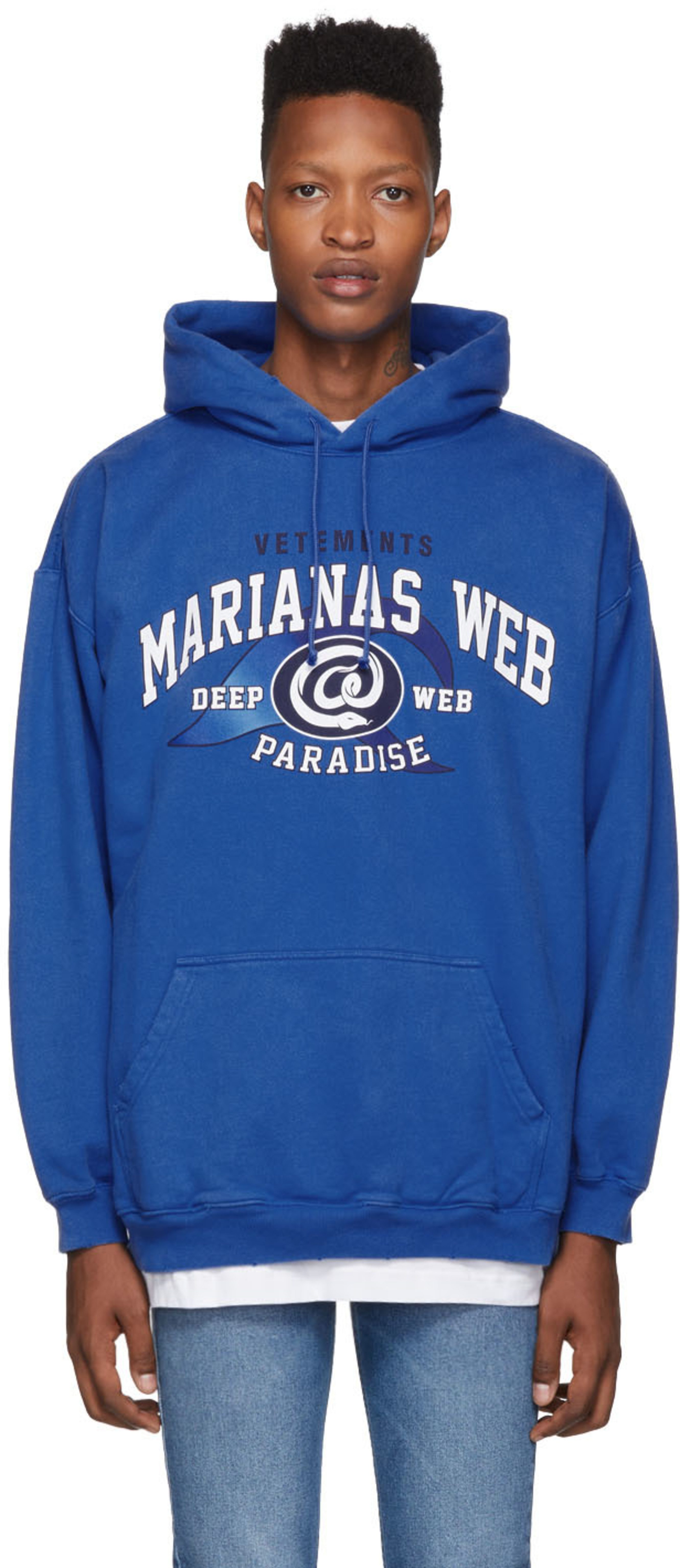 467ebf16 Blue 'Marianas Web' Hoodie