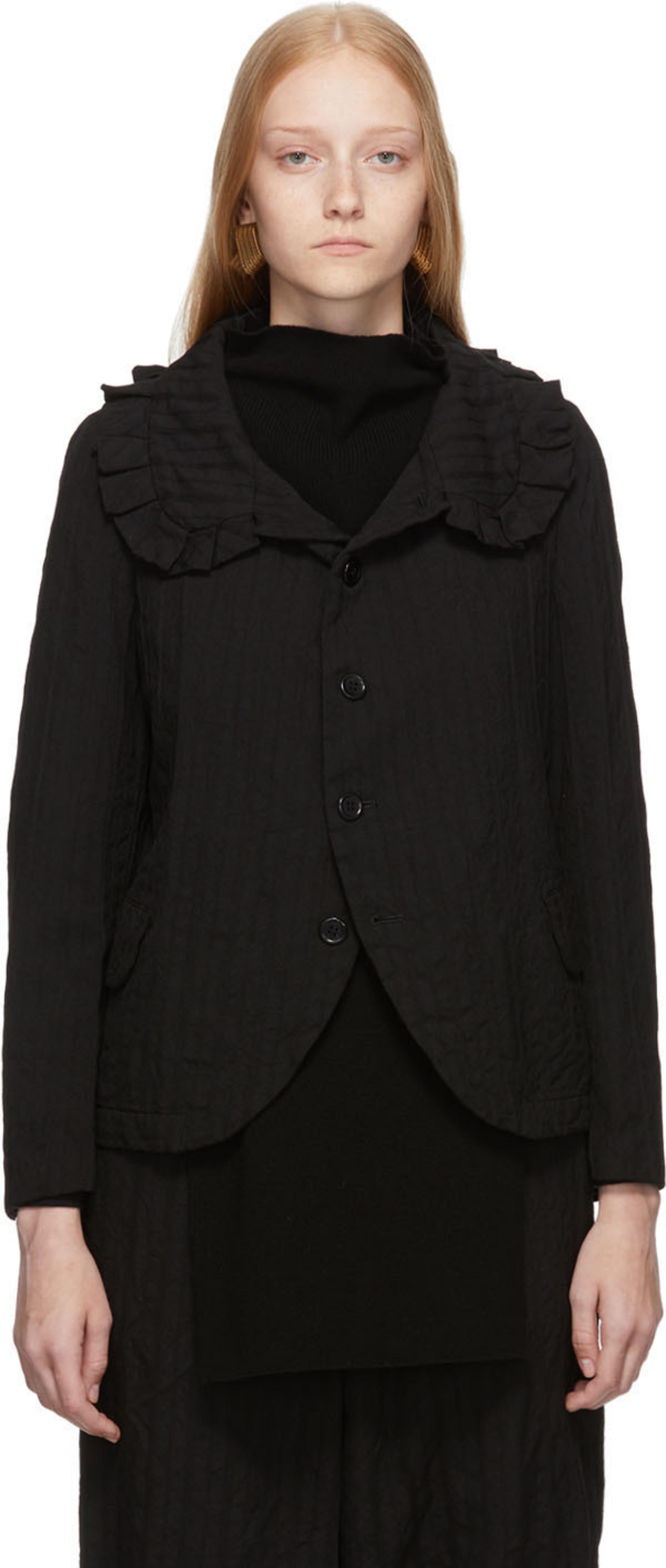 1641906af5 Black Dobby Stripe A Pattern Jacket