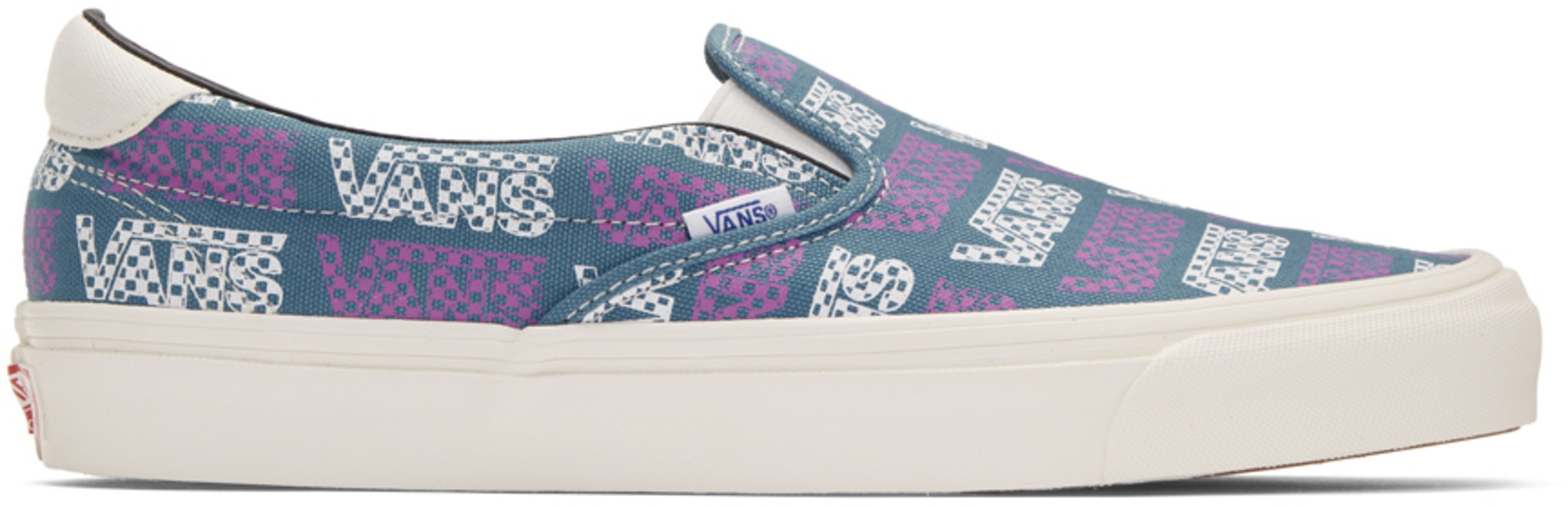 sports shoes 38433 b595a Blue & Purple Logo Checkerboard OG Slip-On 59 LX Sneakers