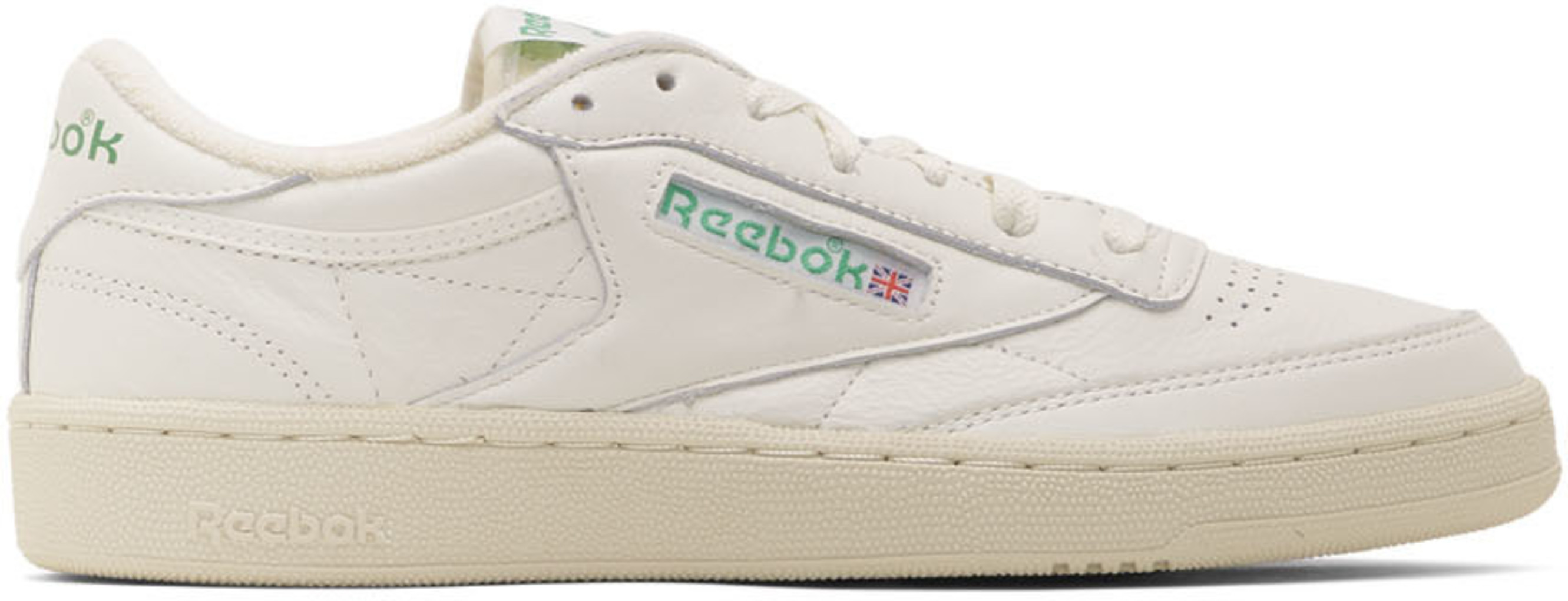 8ed3d96d88 Off-White & Green Club C 85 Vintage Sneakers